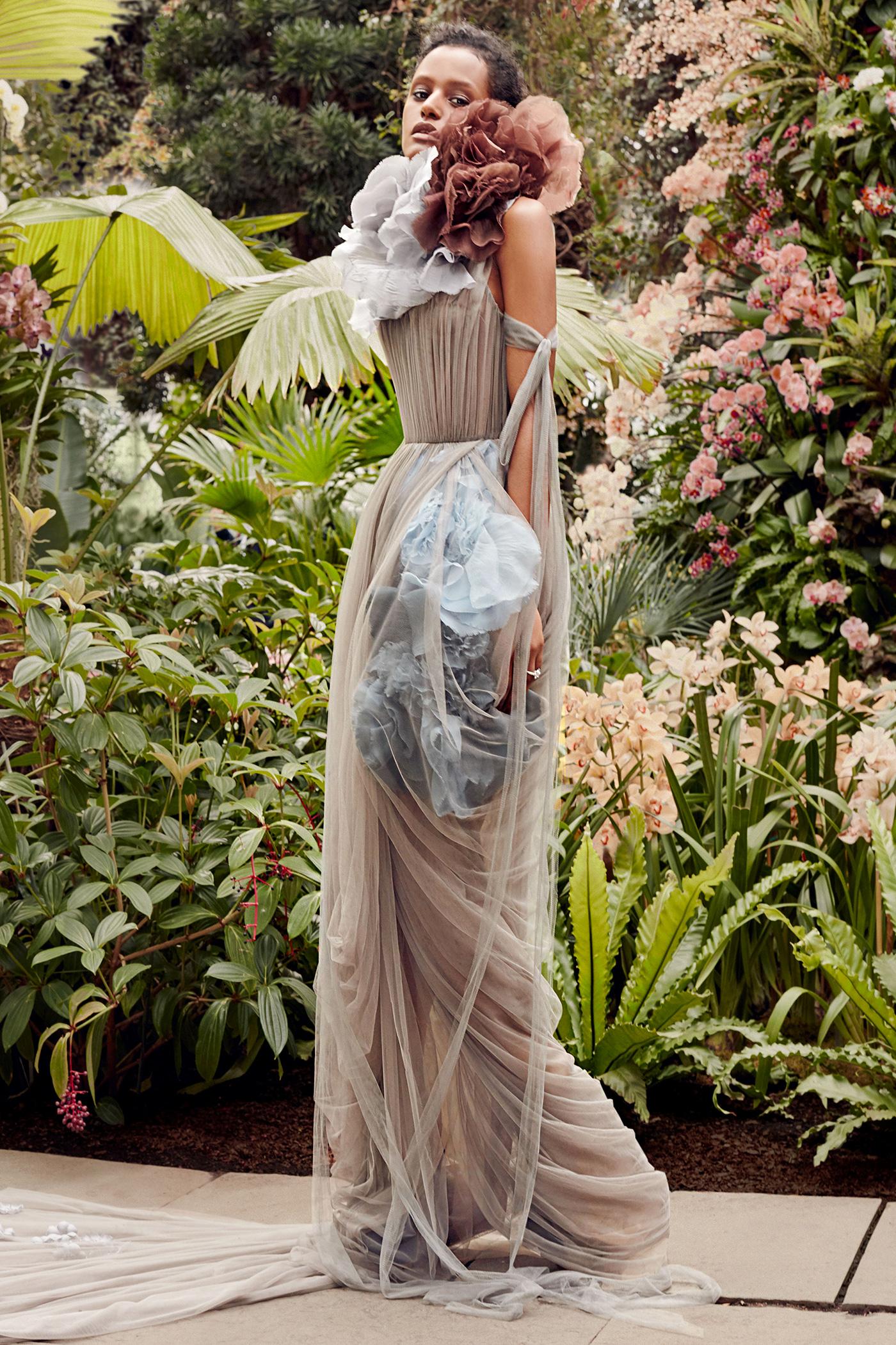 vera wang tan layered tulle wedding dress spring 2020