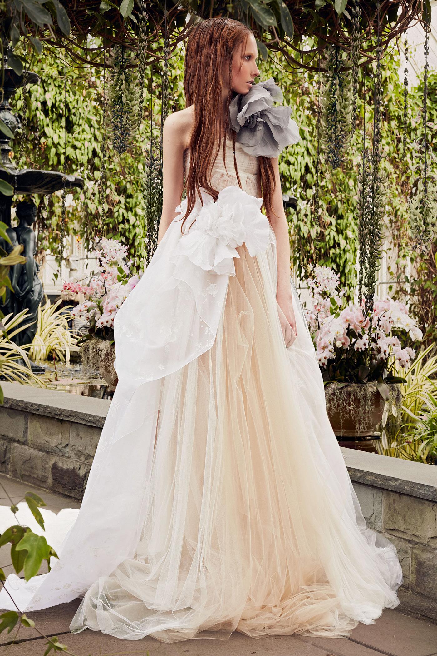 vera wang light salmon a-line wedding dress spring 2020