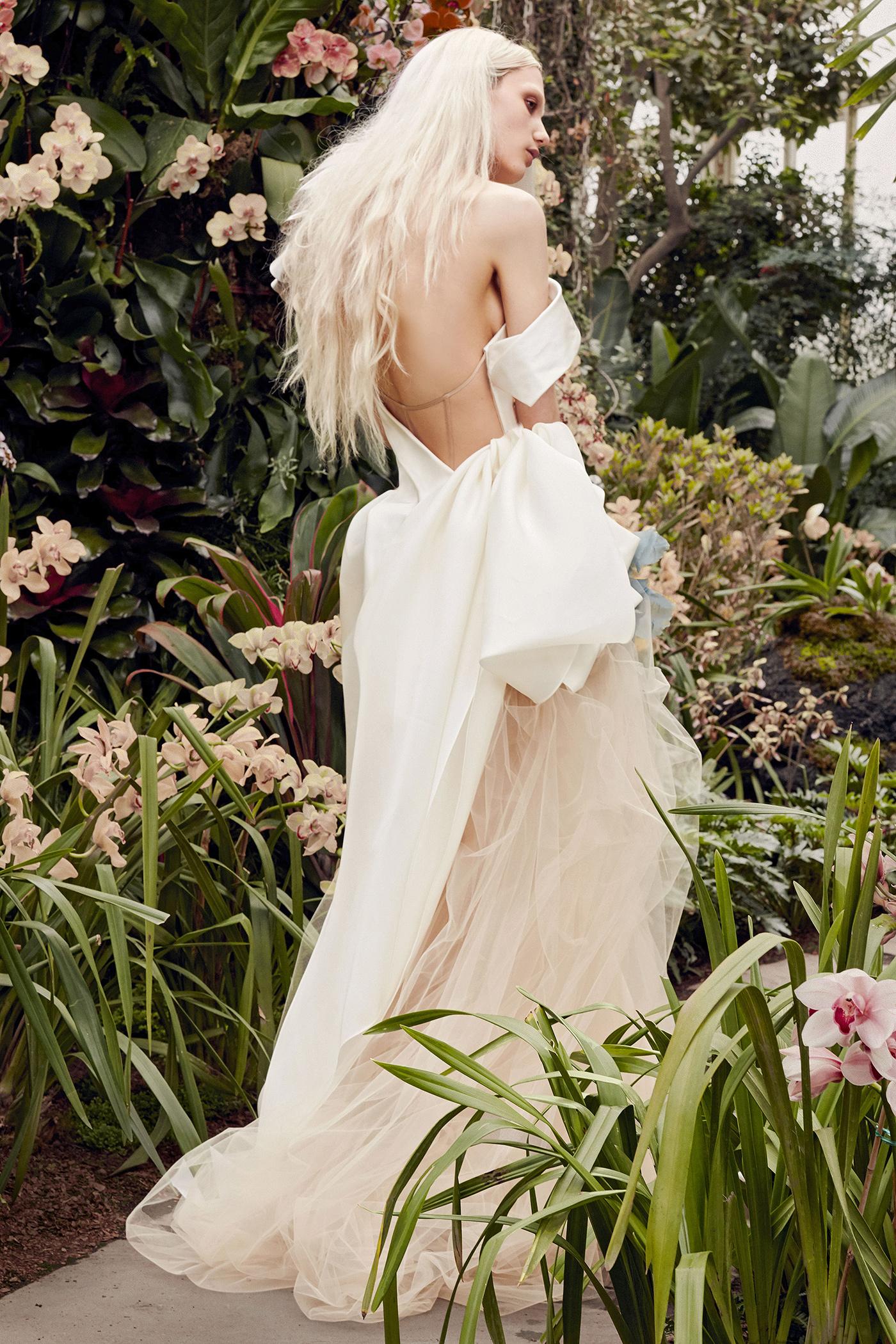 vera wang off-the-shoulder back detail wedding dress spring 2020