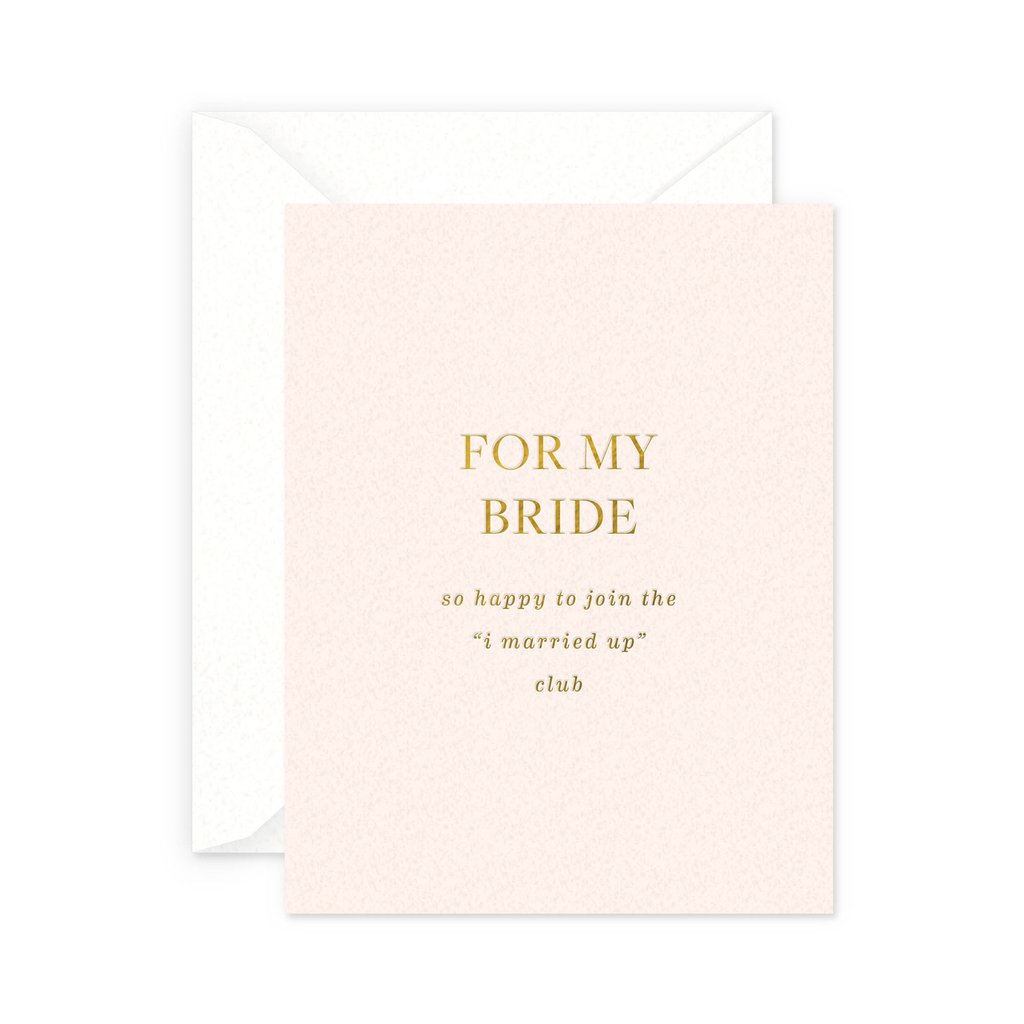 """""""For My Bride"""" Greeting Card"""
