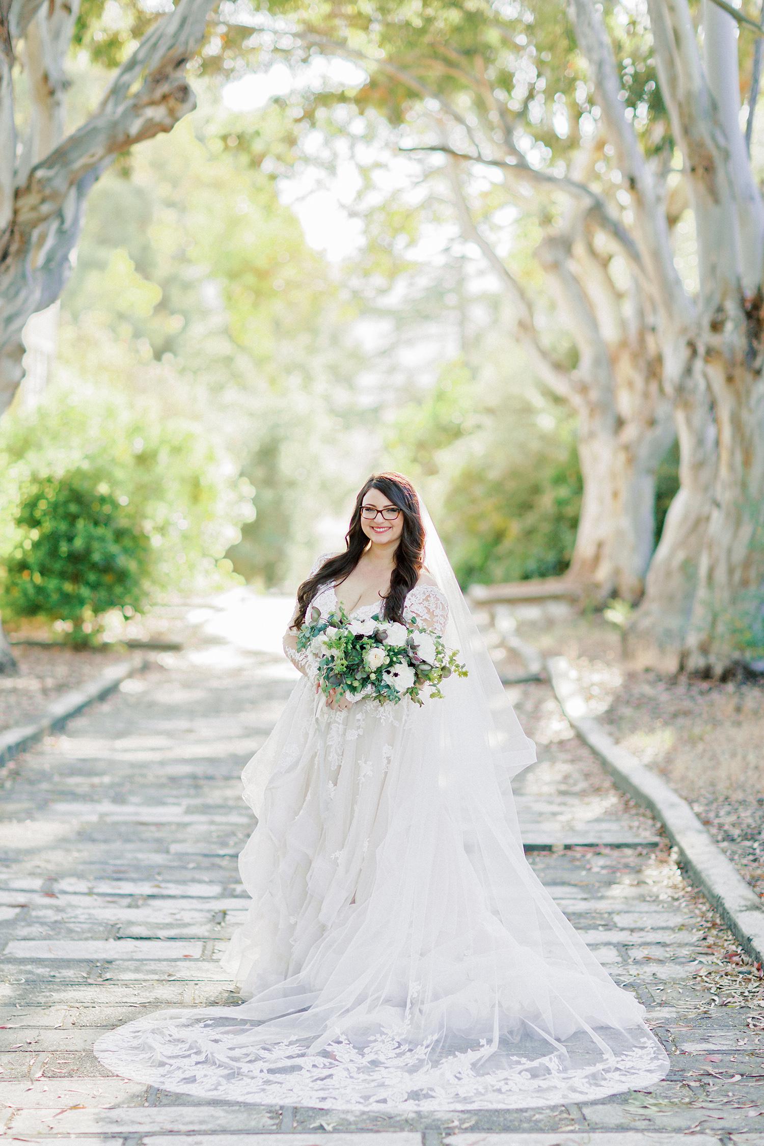 erika evan wedding bride