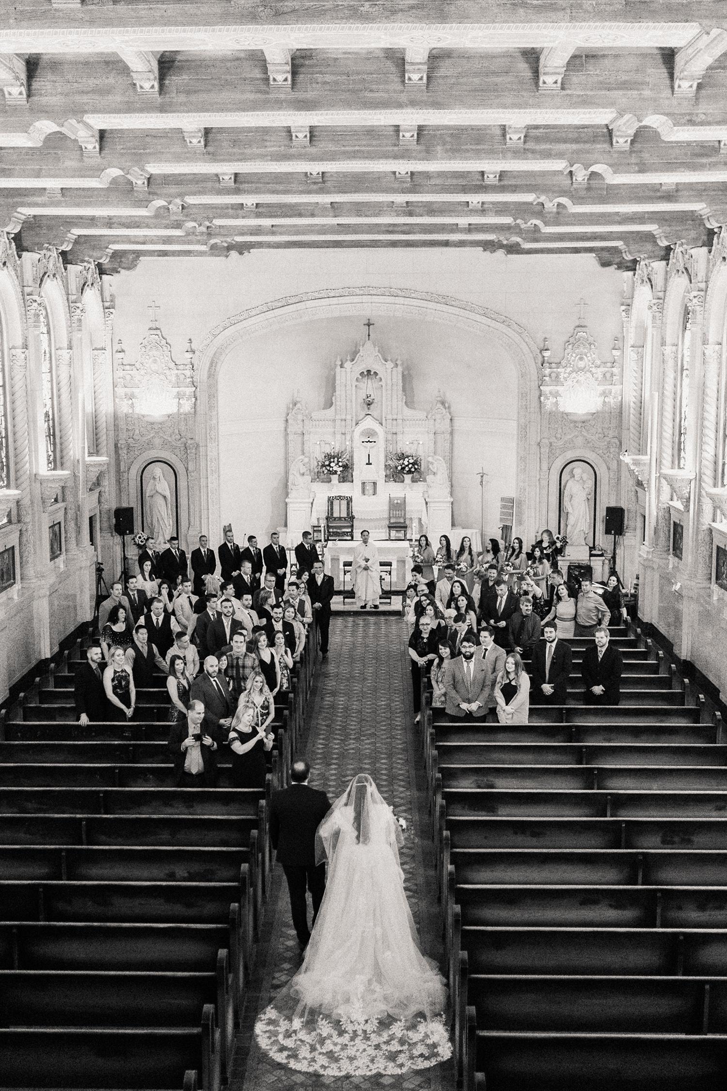 erika evan wedding bride's processional