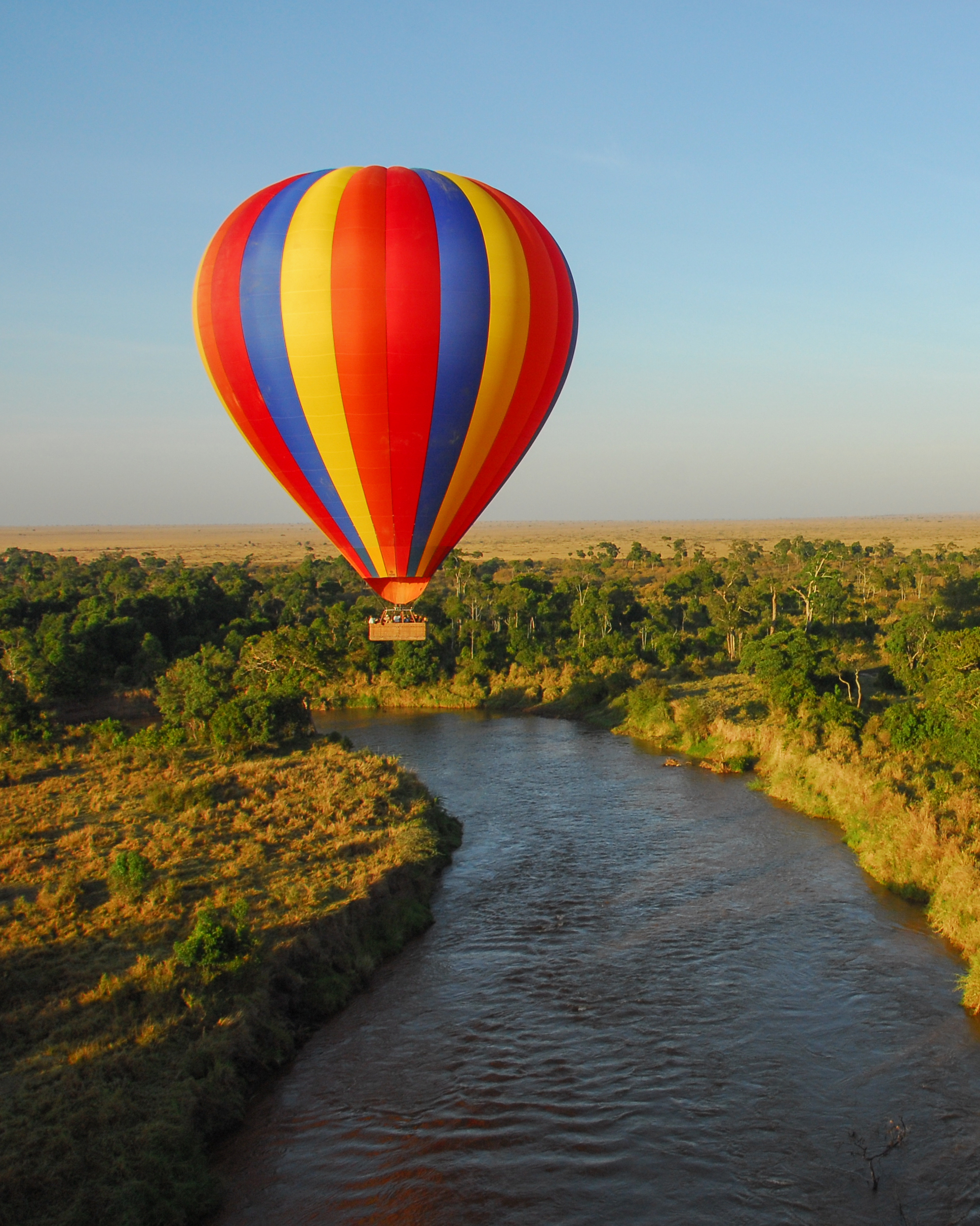 africa trip hot air balloon view