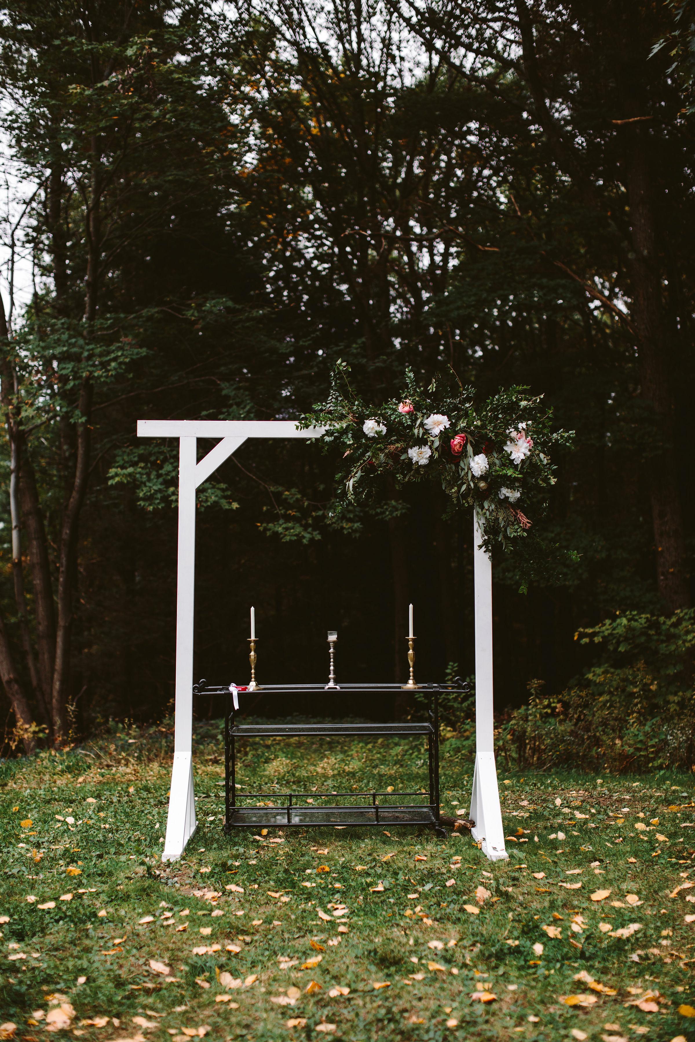 rivka aaron wedding outdoor altar