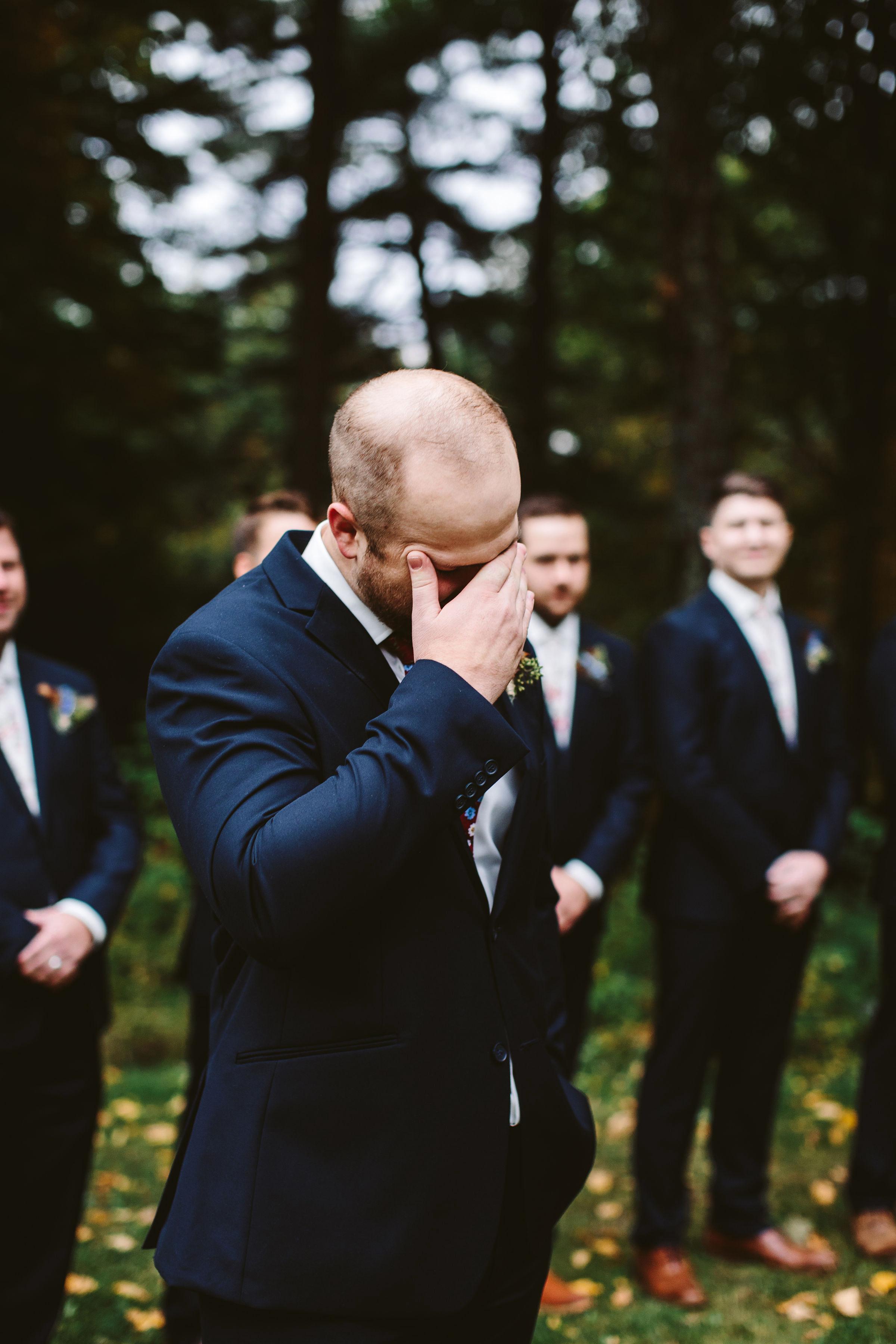 rivka aaron wedding emotional groom