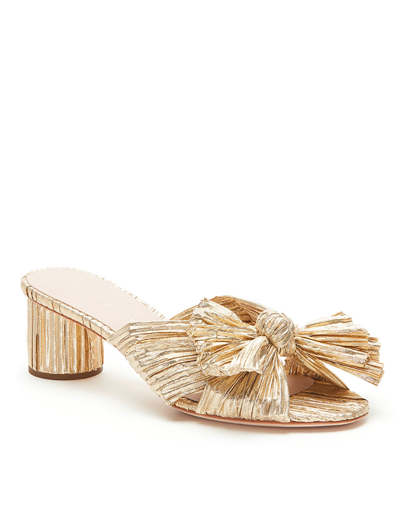 metallic pleated knot slides