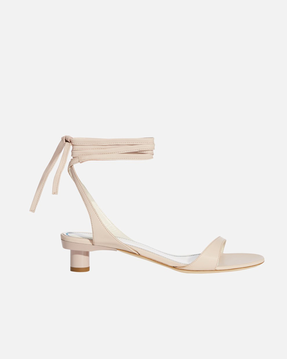 ankle-tie leather sandals