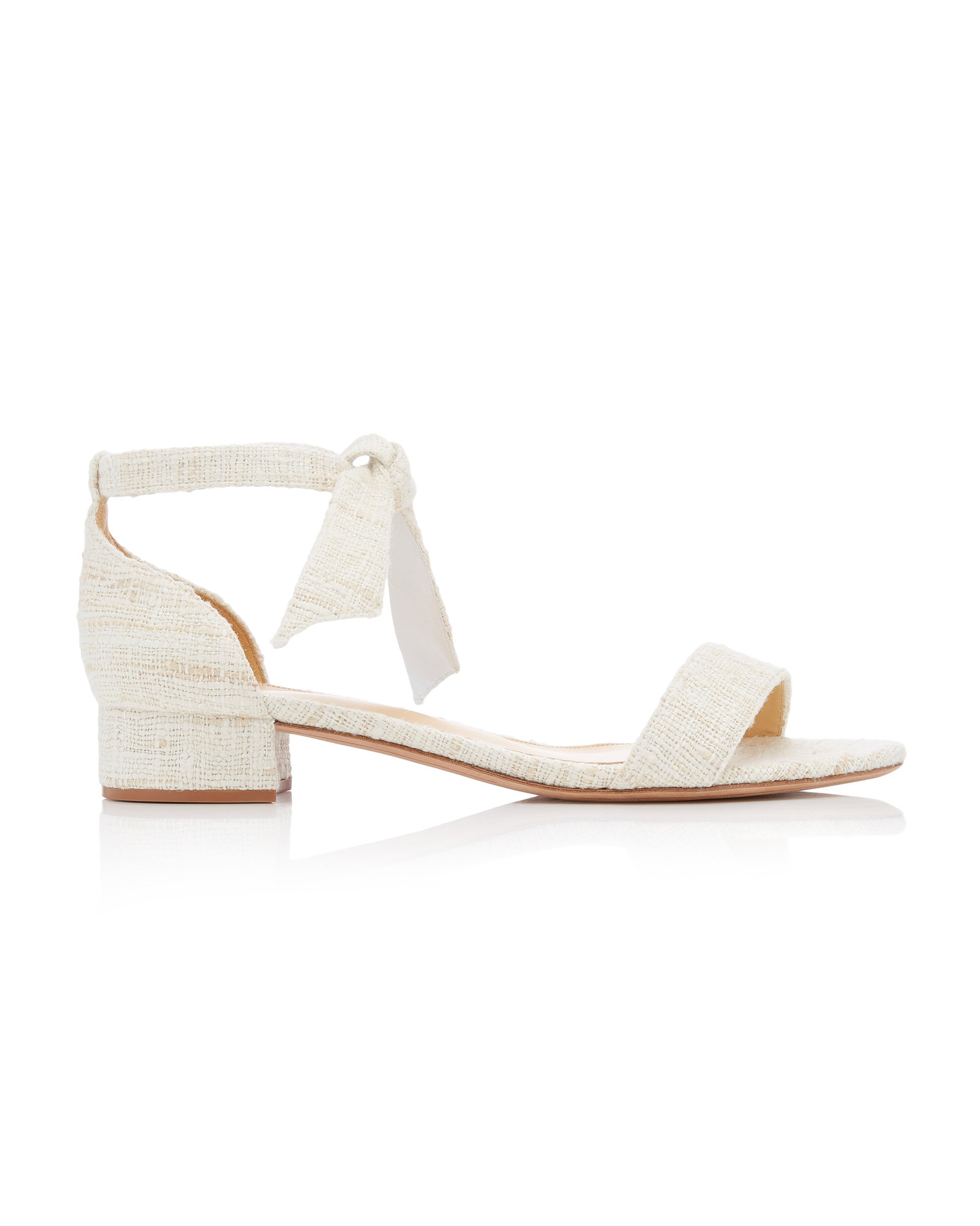 neutral colored linen sandals