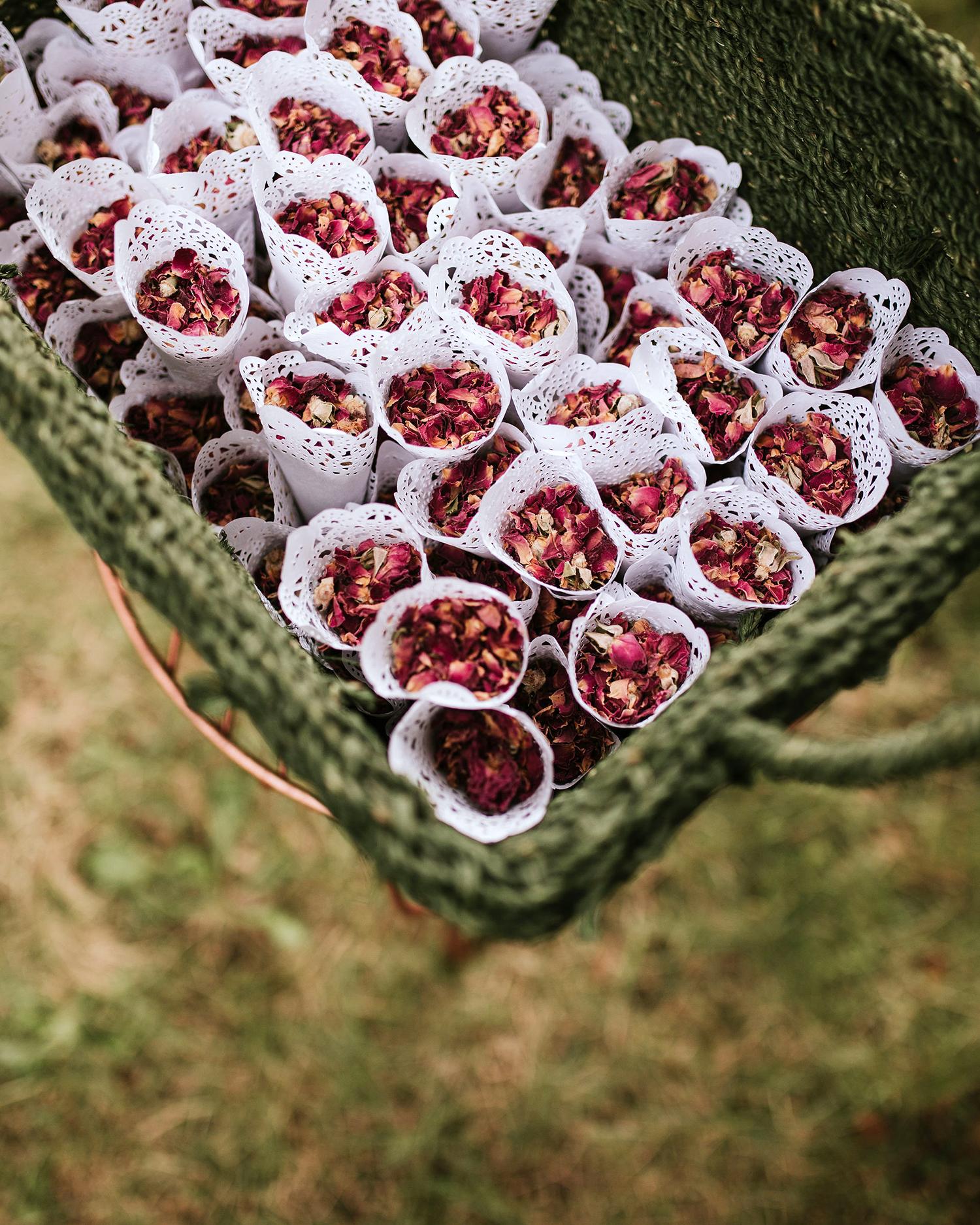 ferbie rob boho wedding petals