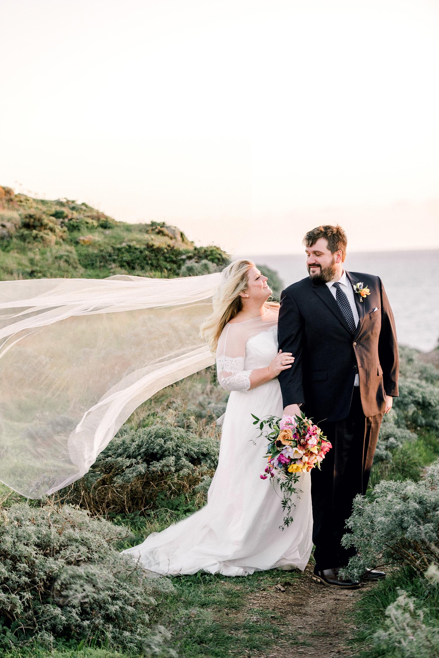 johanna erik wedding couple by water