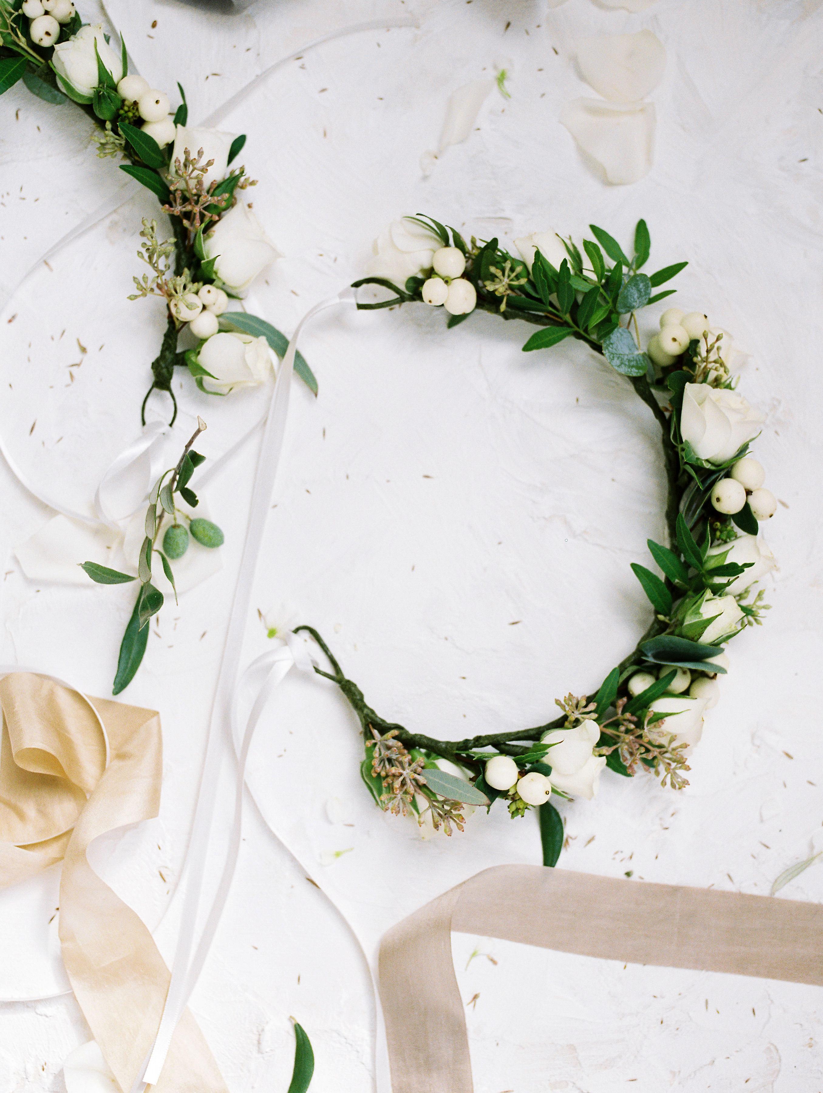 sophie christopher wedding flower crowns