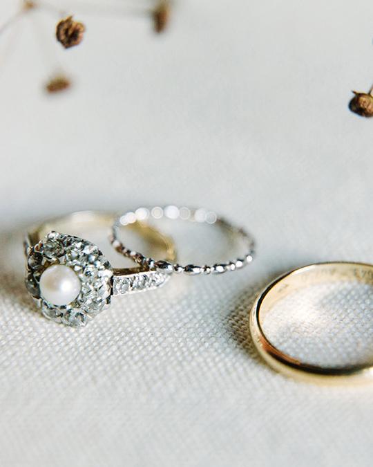 antique wedding rings set