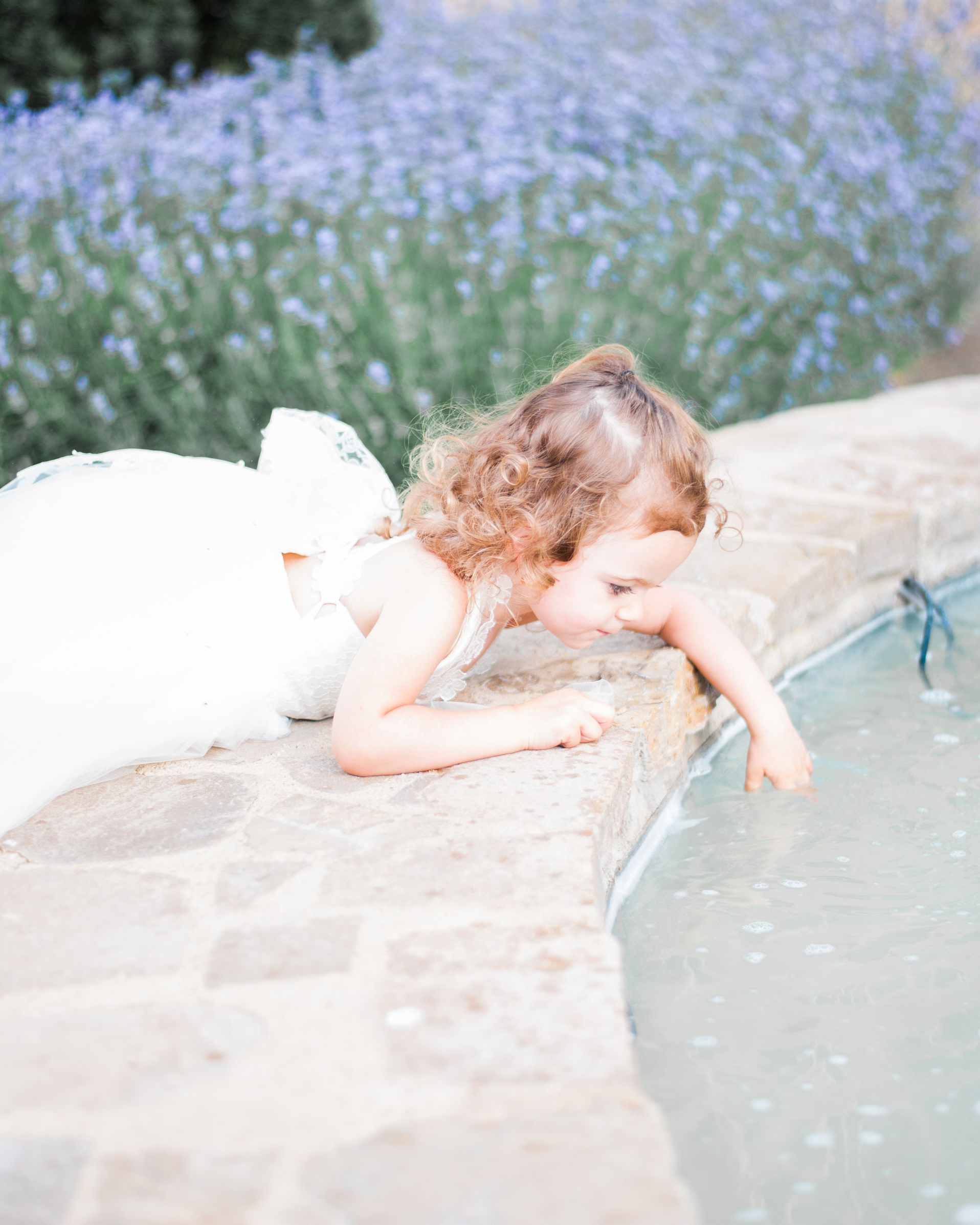 flower girl wearing BHLDN hattie dress