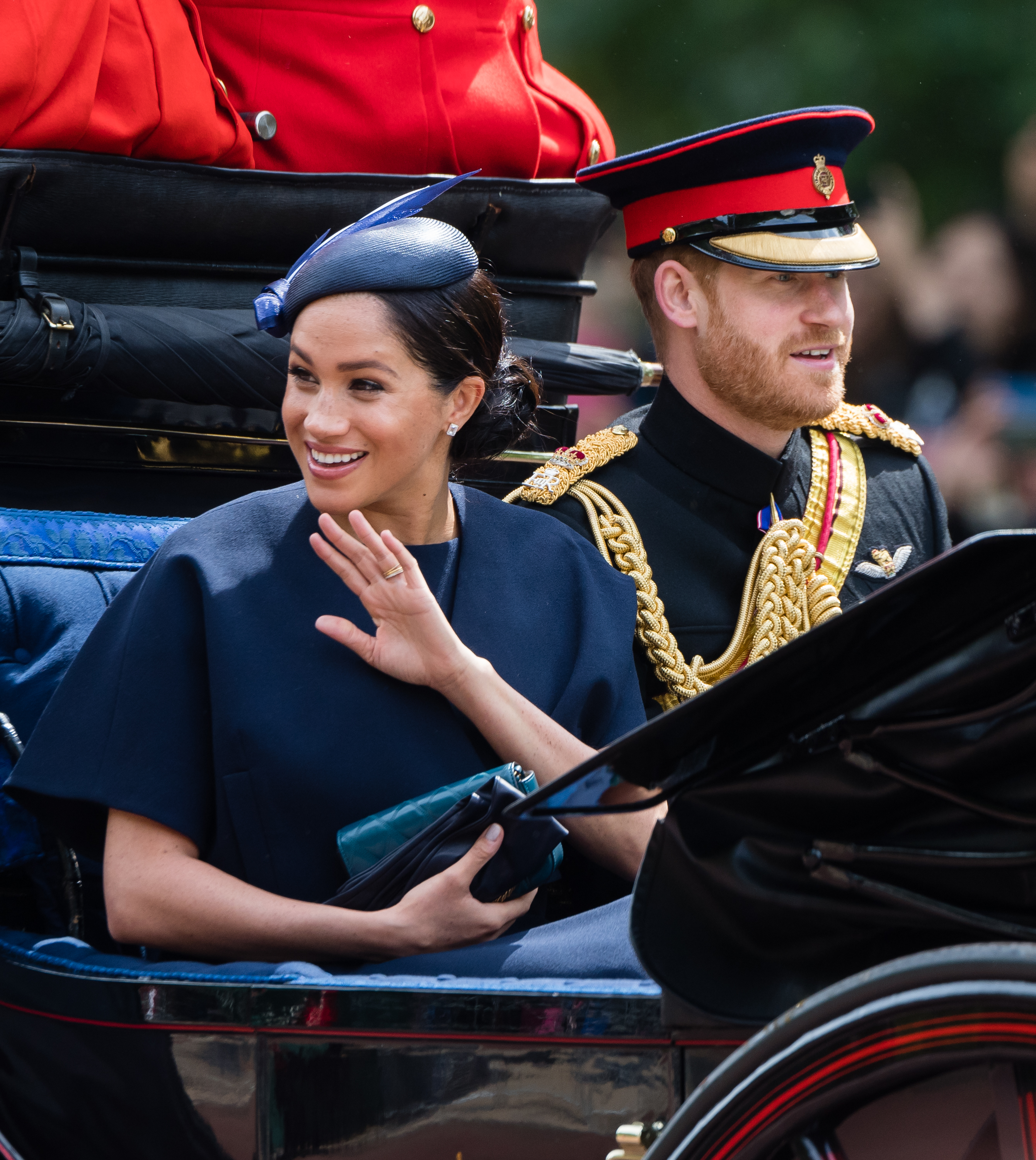 meghan markle and prince harry at troop the colour