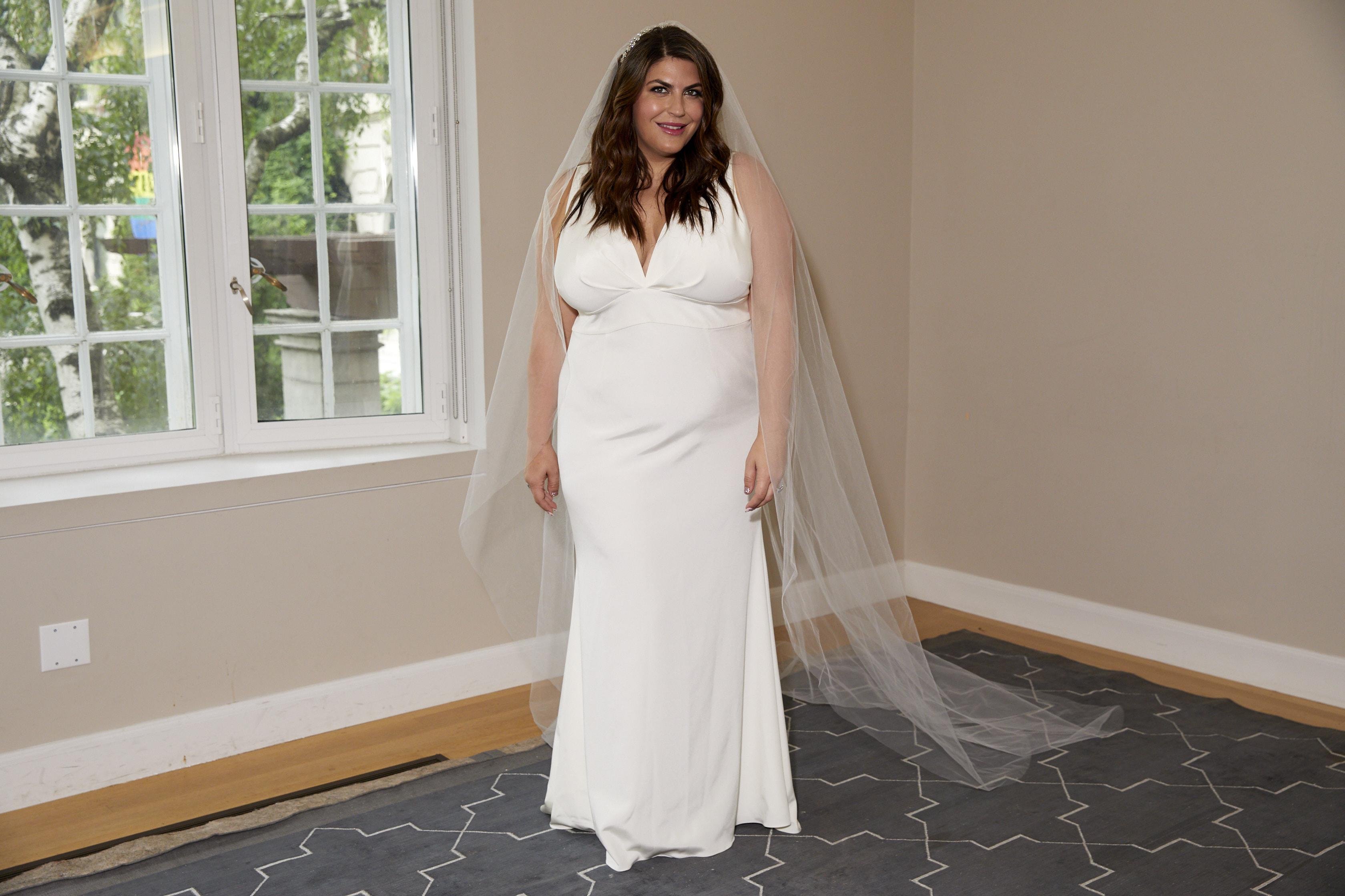 katie sturino custom sachin babi wedding dress