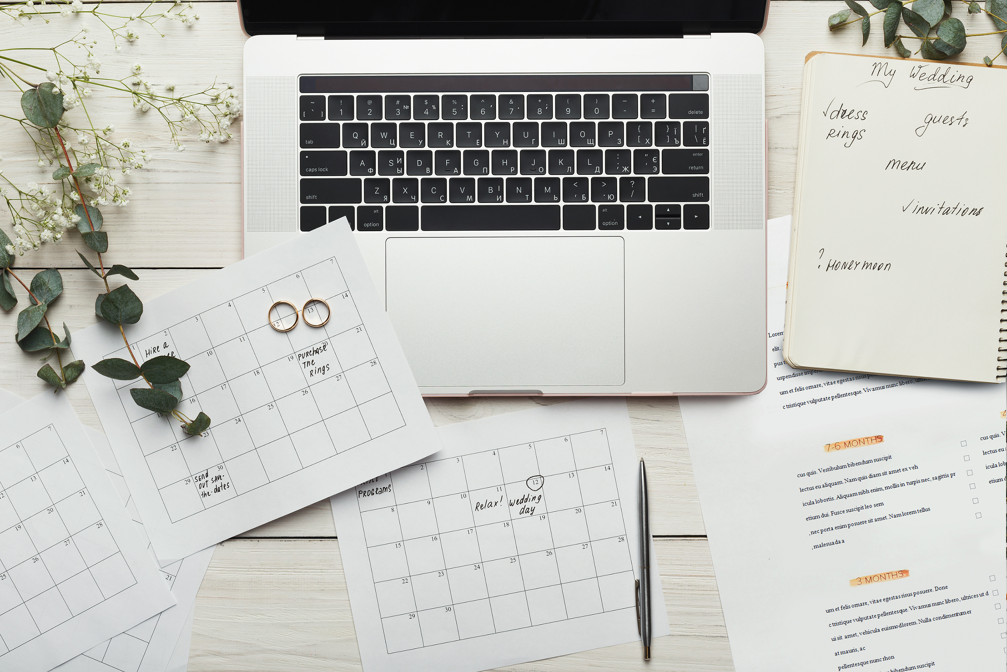 Wedding Planning Checklist, Calendar, and Notebook