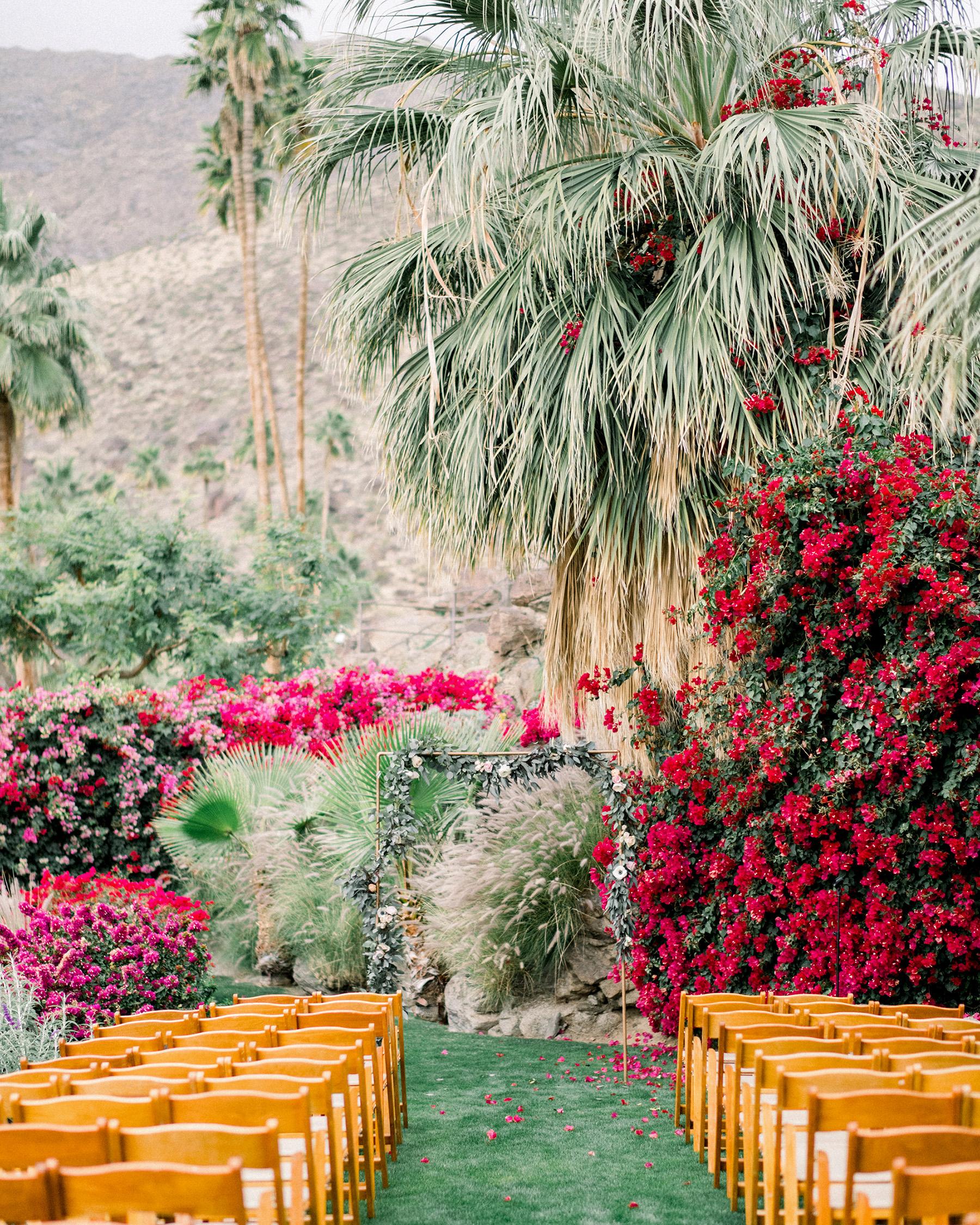 bougainvillea wedding floral ceremony arrangements