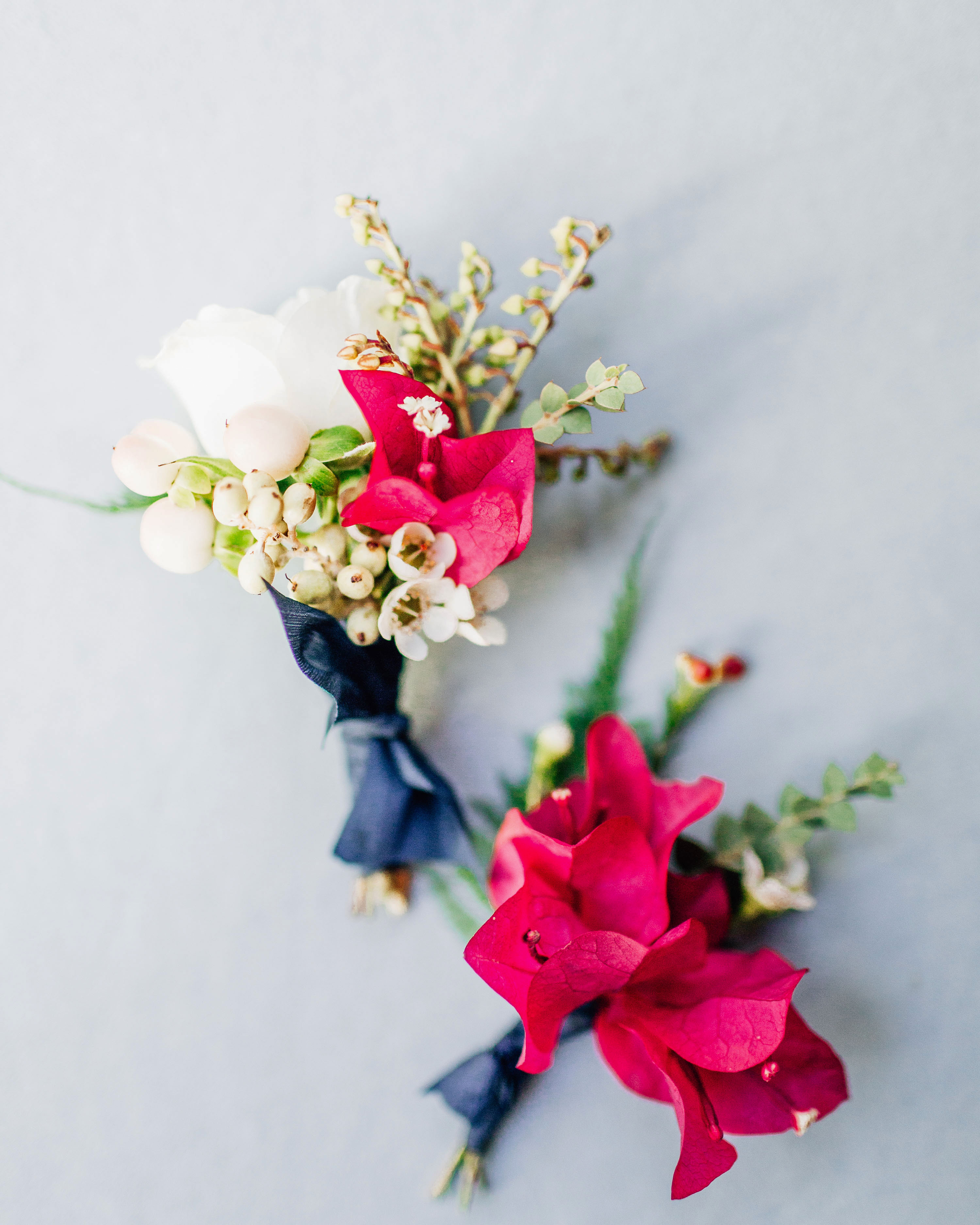 bougainvillea floral wedding boutonnieres