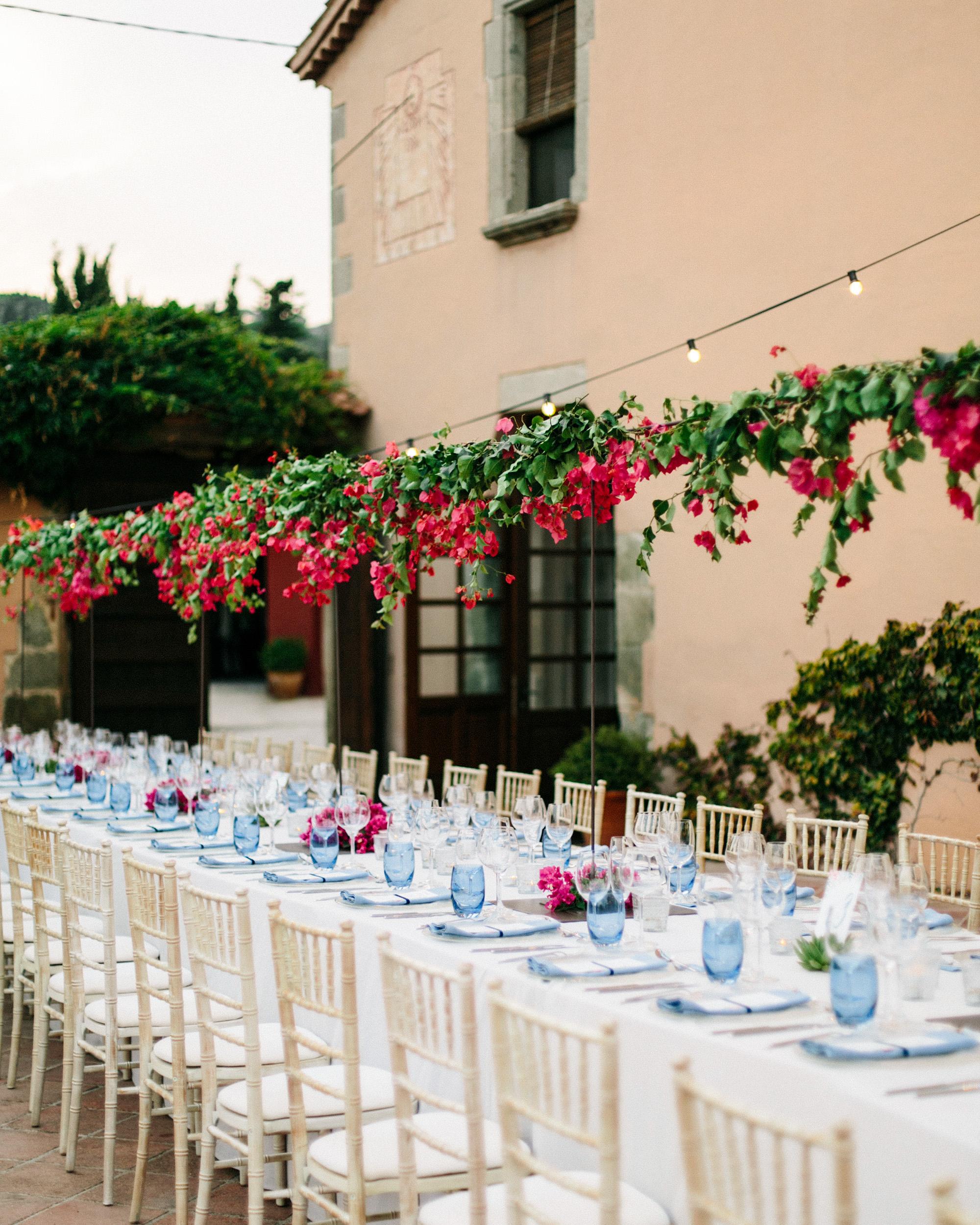 bougainvillea floral arrangements bridge centerpiece