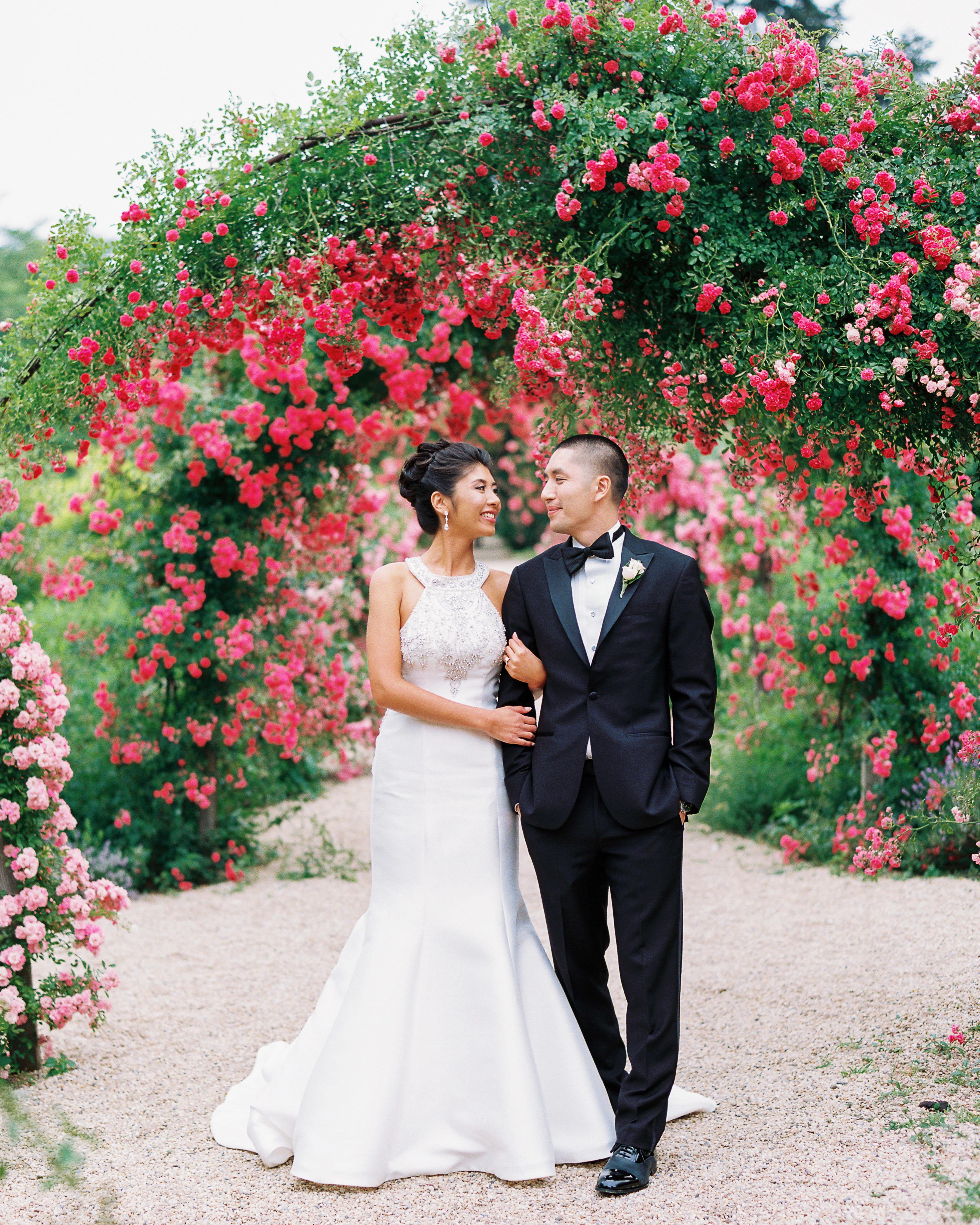 bougainvillea floral arrangements wedding backdrop