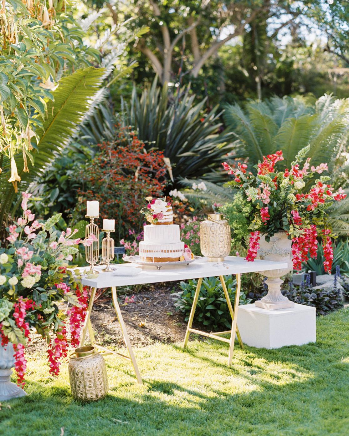bougainvillea flowers dessert station display