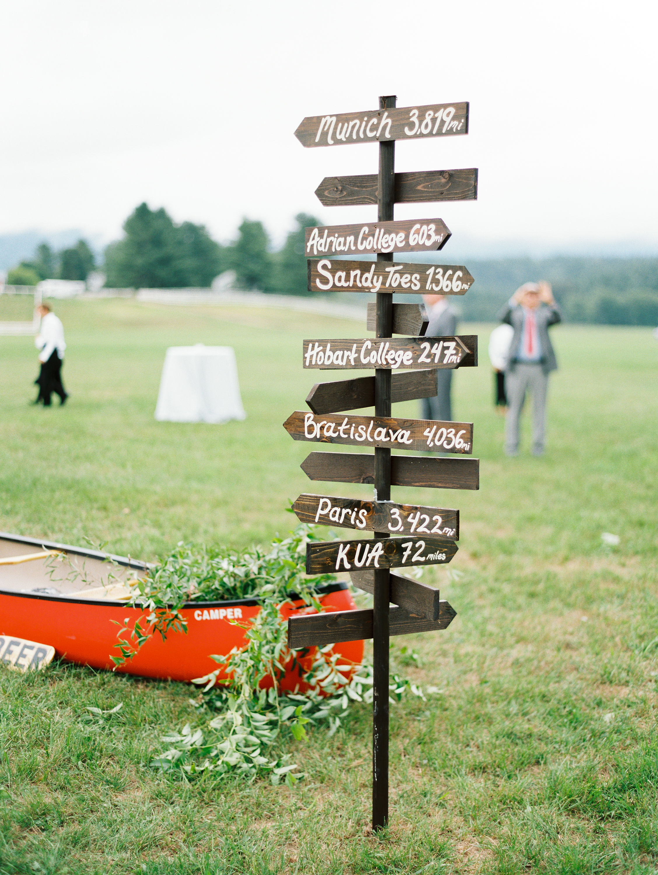 lauren josh wedding directional sign