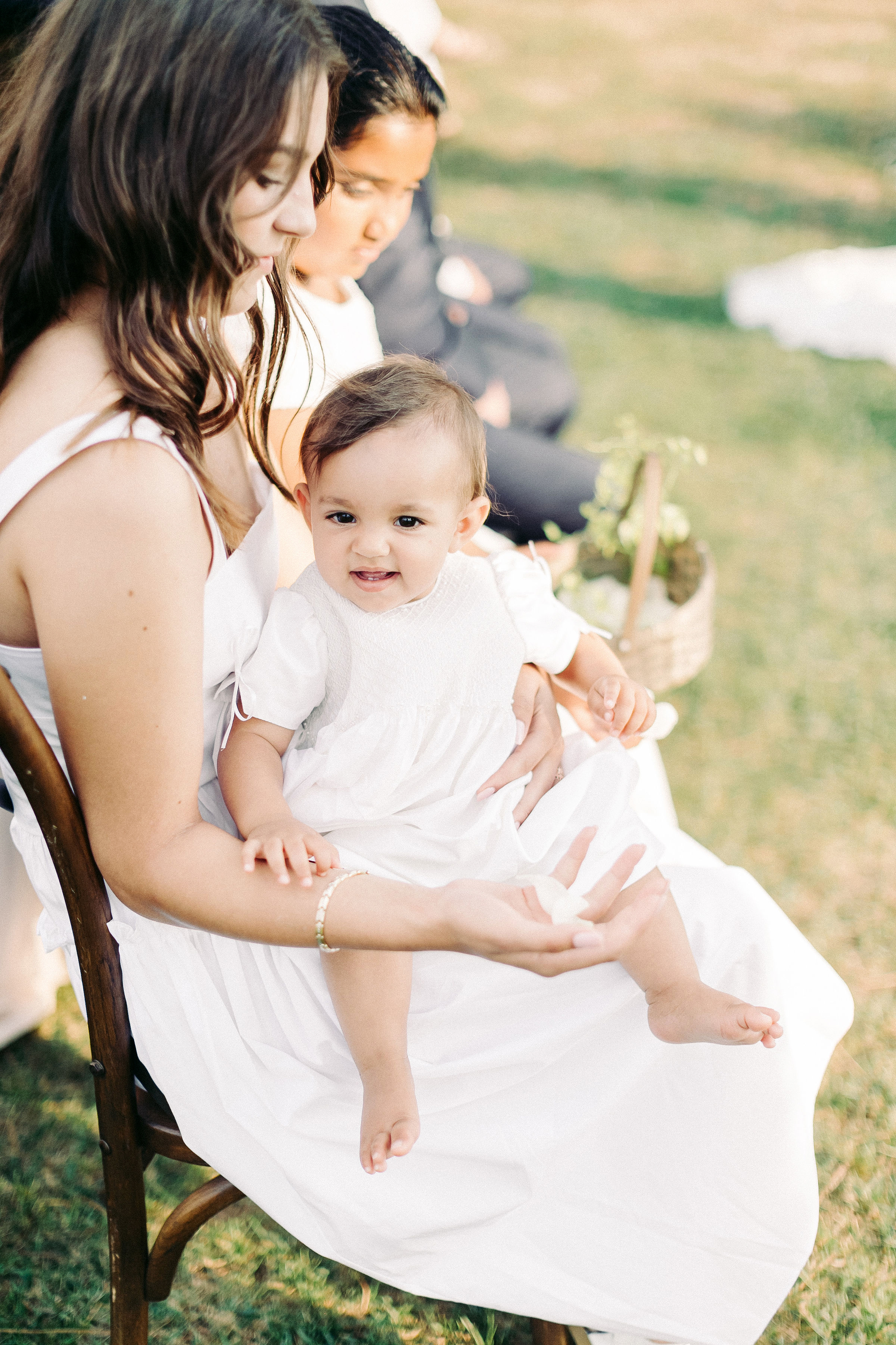 kseniya sadhir wedding italy baby on lap