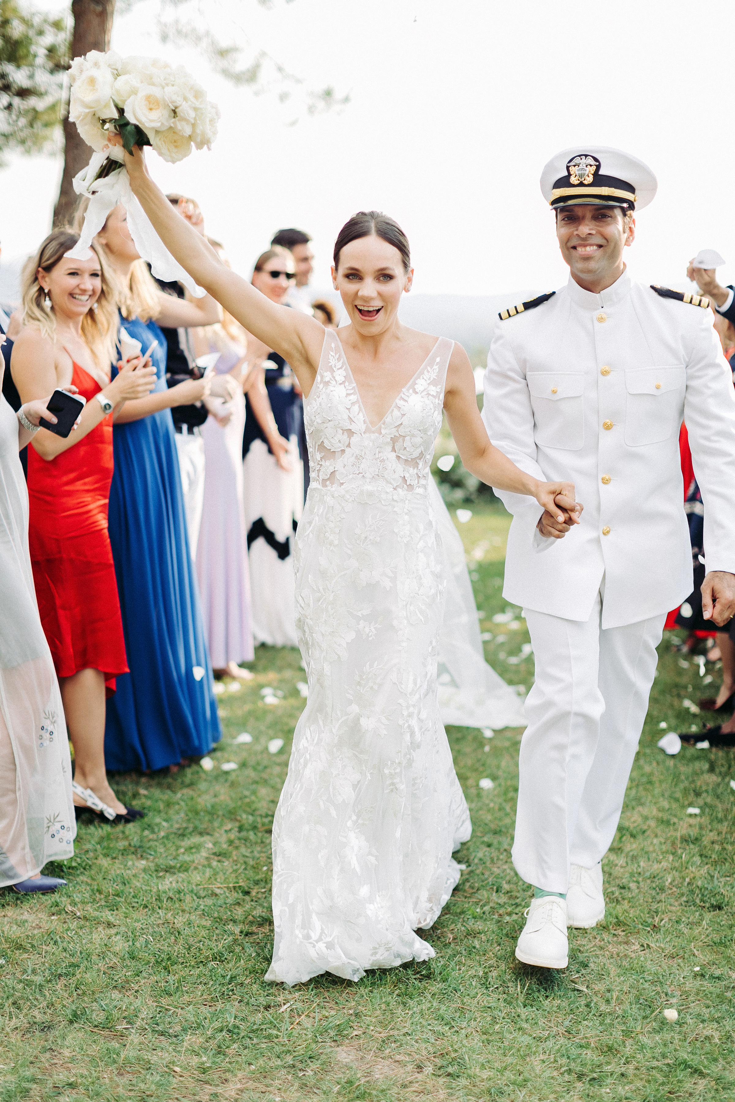 kseniya sadhir wedding recessional bride and groom