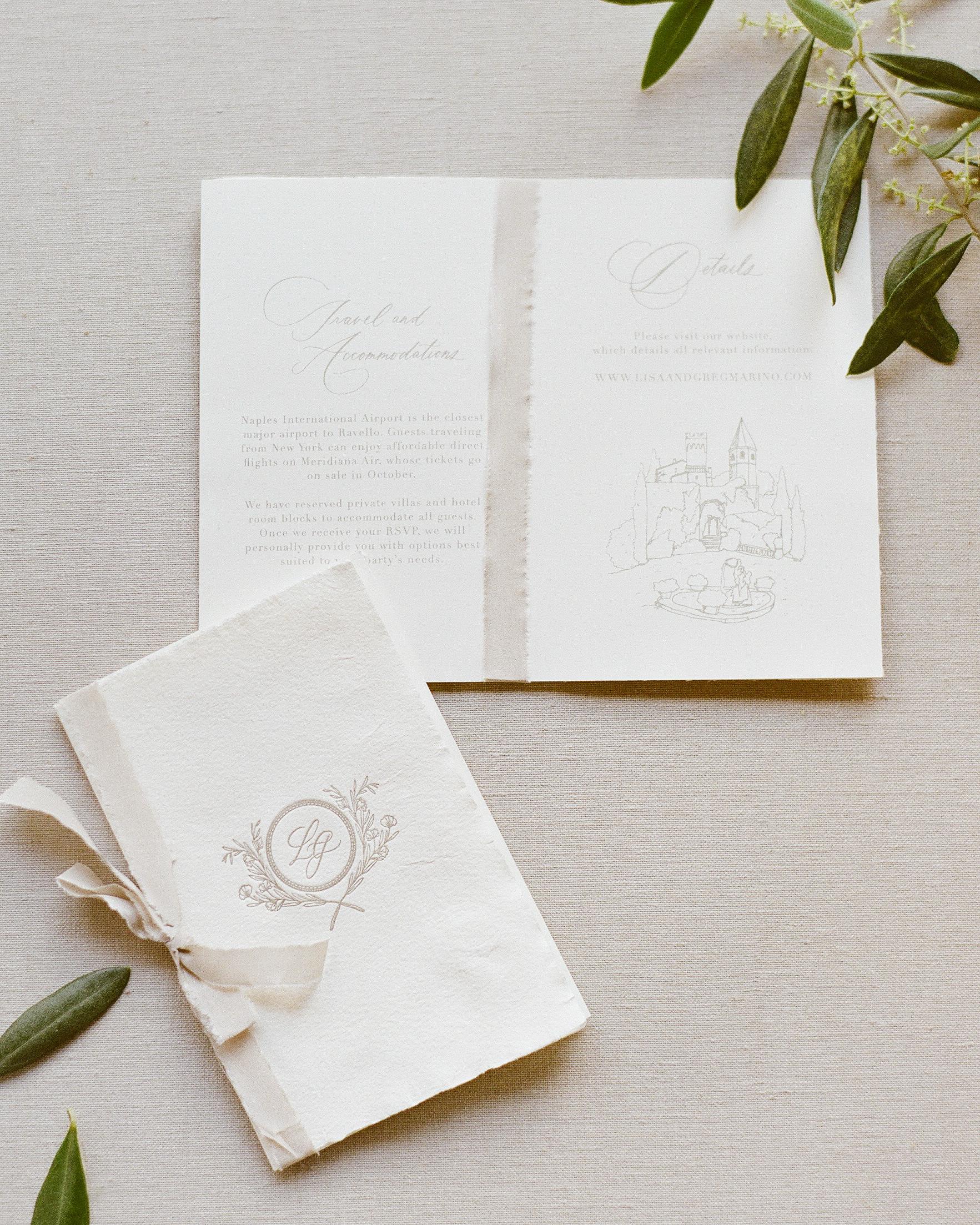 lisa greg italy wedding itineraries