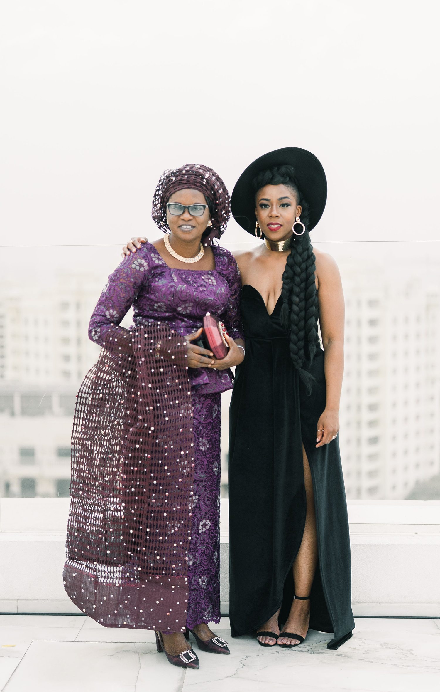 vanessa abidemi wedding guests on rooftop