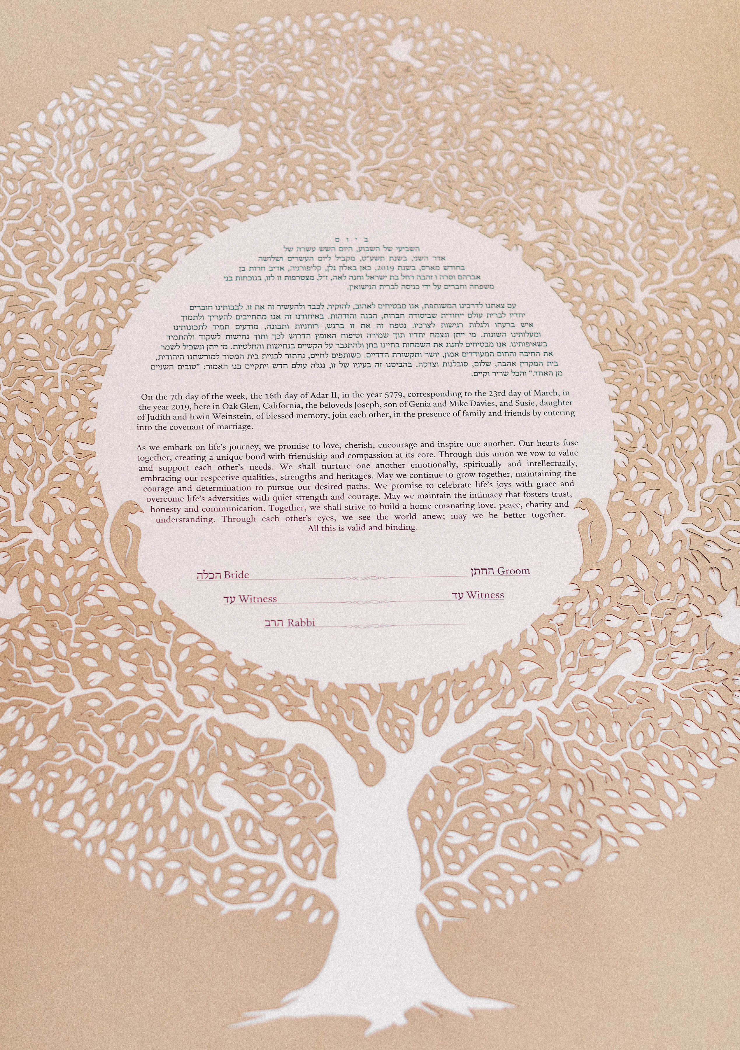 susie joe wedding ketubah