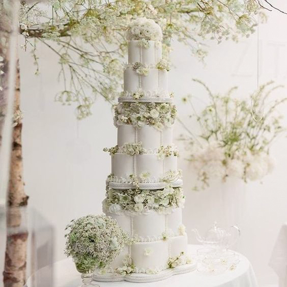 cakes with floral tiers matching blooms