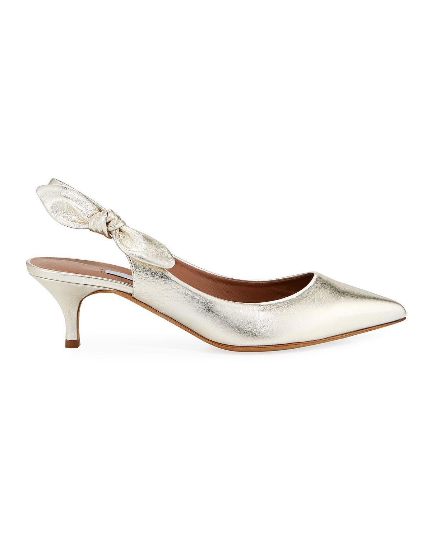 metallic sling-back sandals bridesmaid shoes