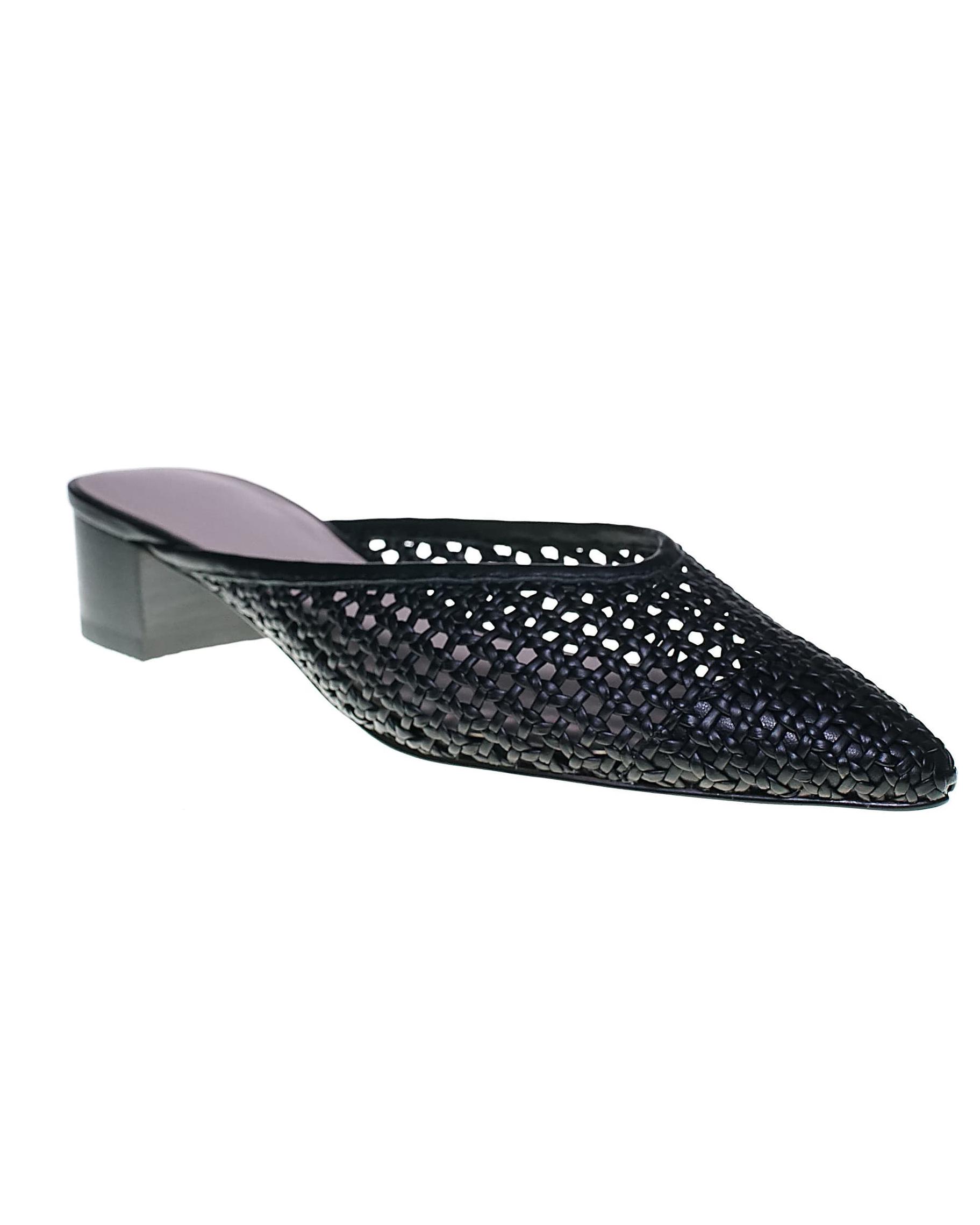 black mules bridesmaid shoes