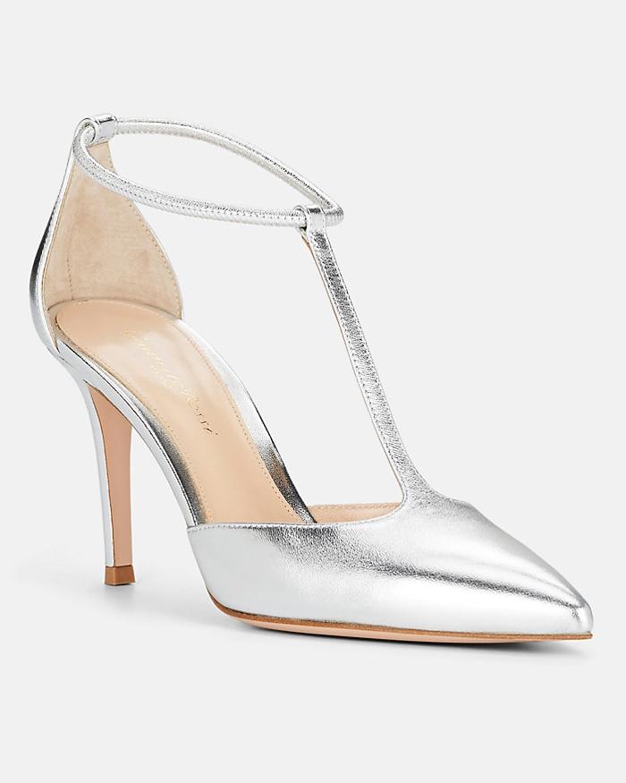leather t-strap pumps bridesmaid shoes