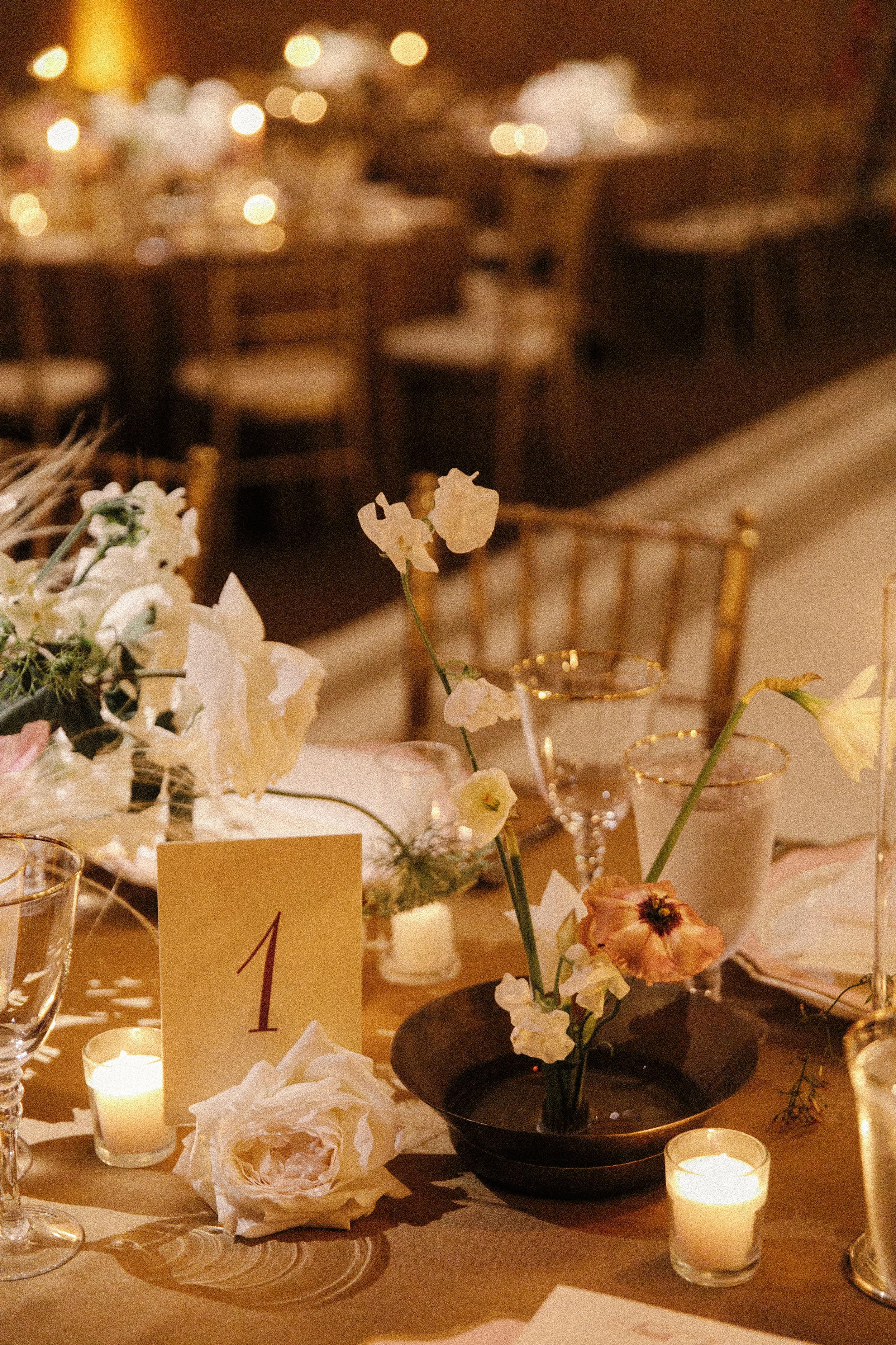 mia patrick wedding reception table number