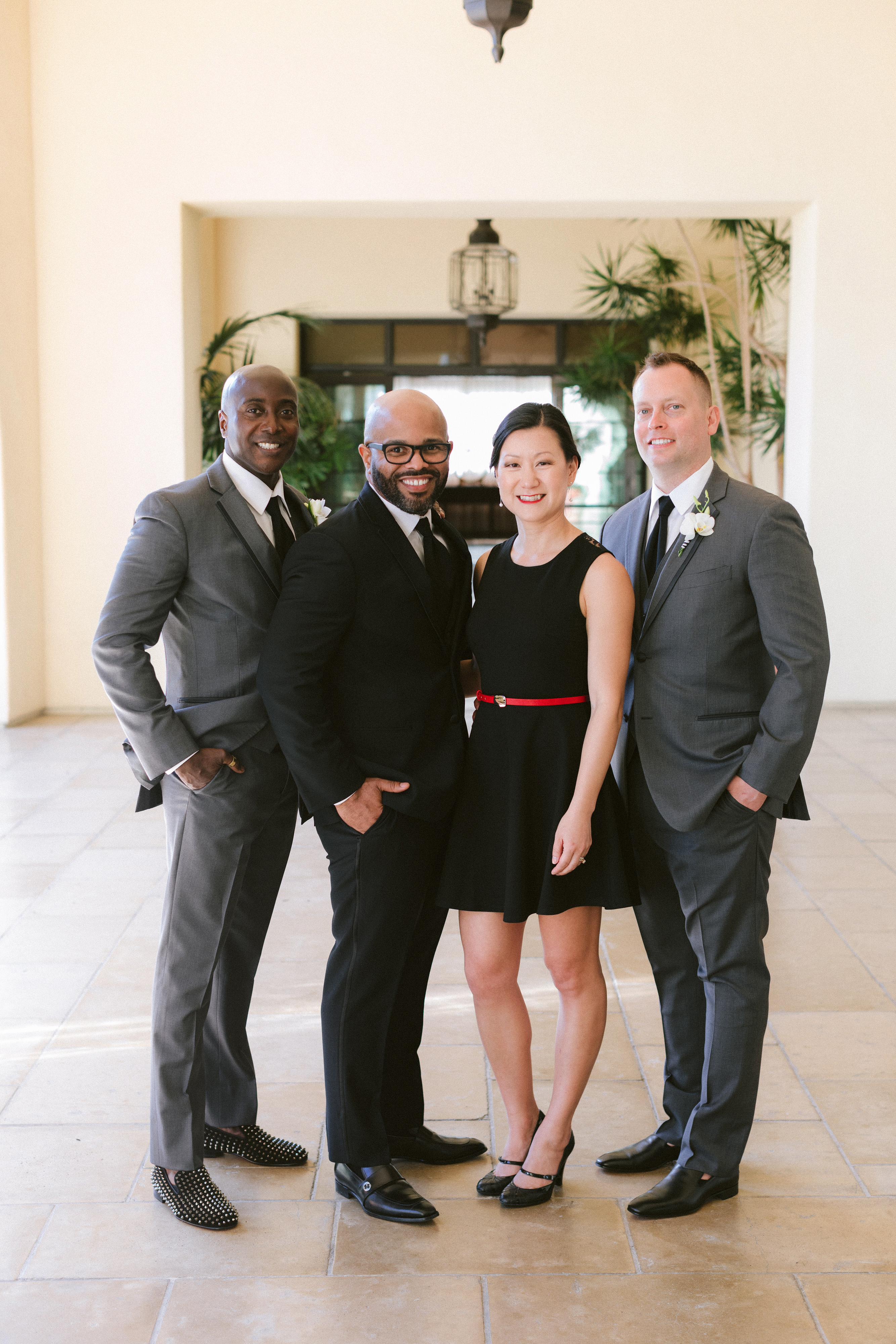 henery michael wedding party and couple