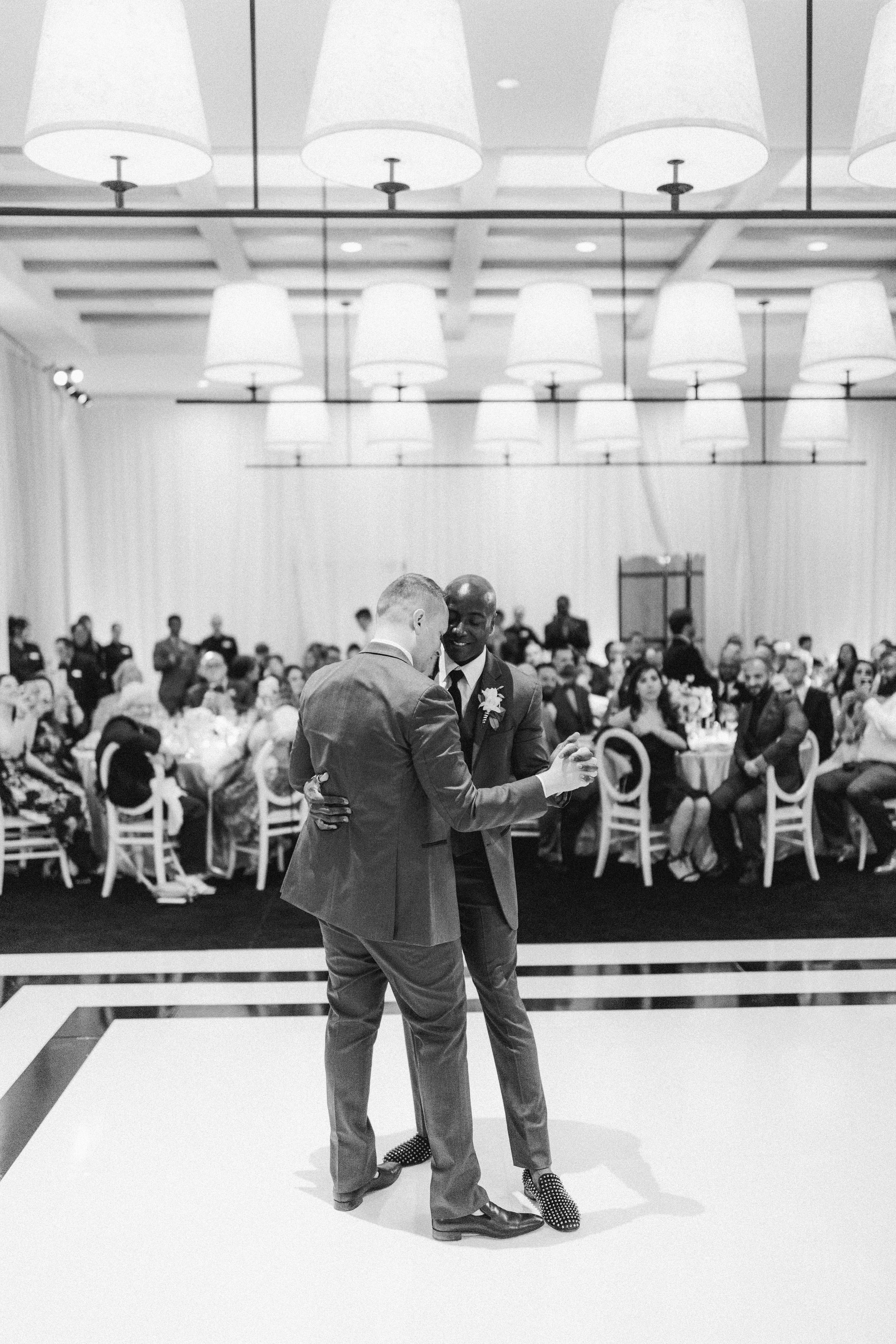 henery michael wedding ceremony couple first dance