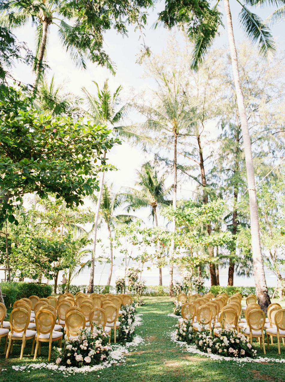 Rosewood Phuket grass lawn wedding ceremony