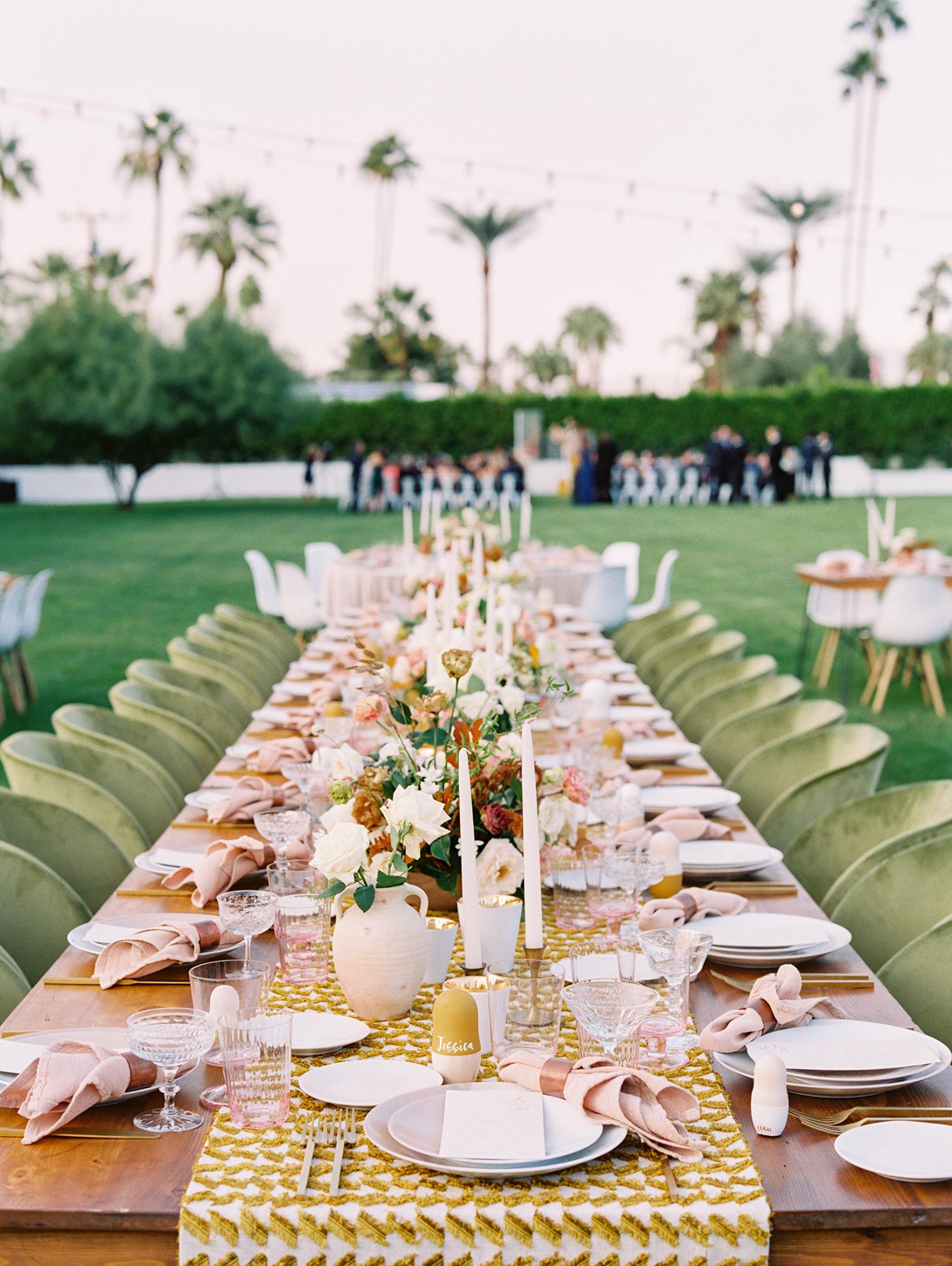 hanna will wedding outdoor reception table