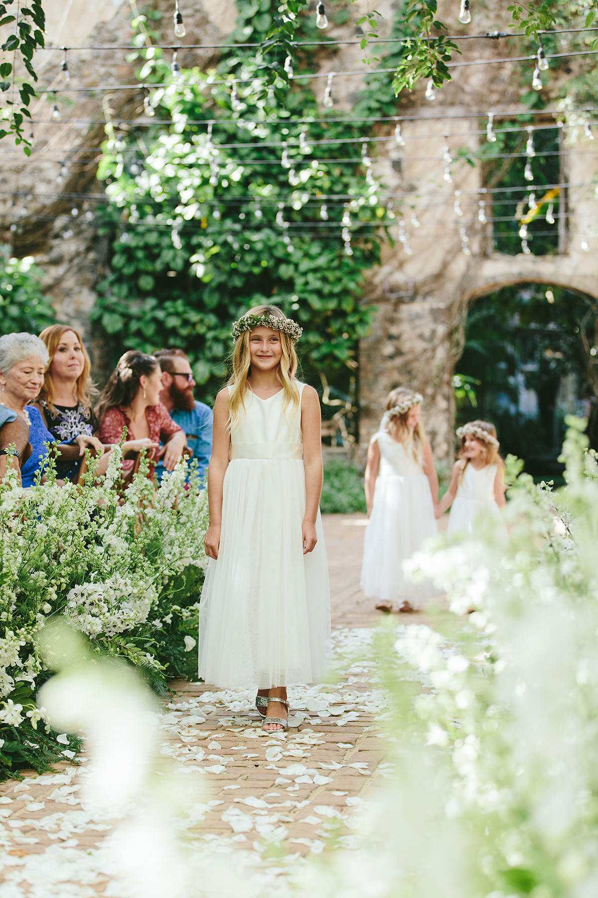 Floral-Wreathed Flower Girls