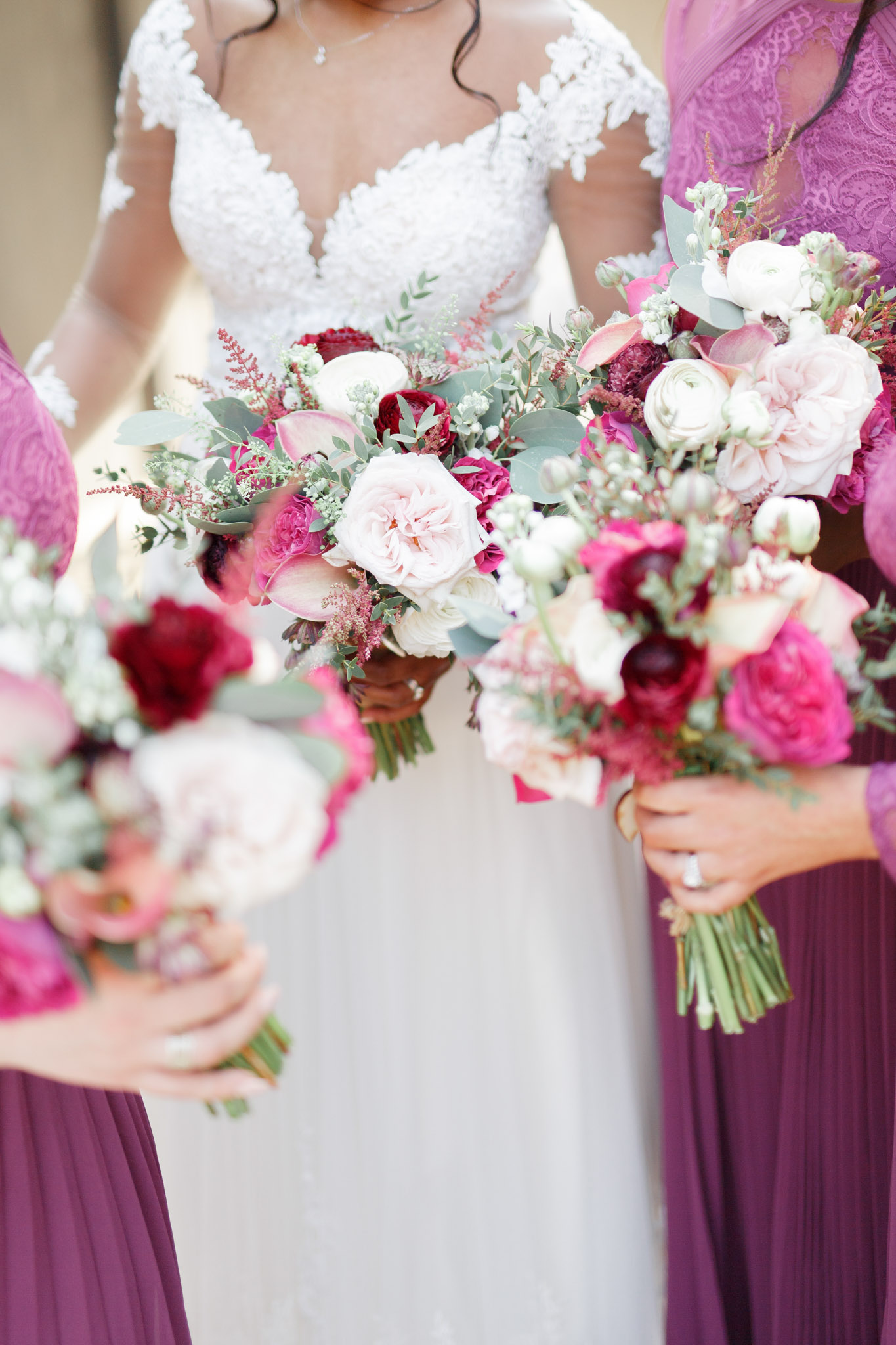 ryan thomas wedding bouquets fuchsia and white