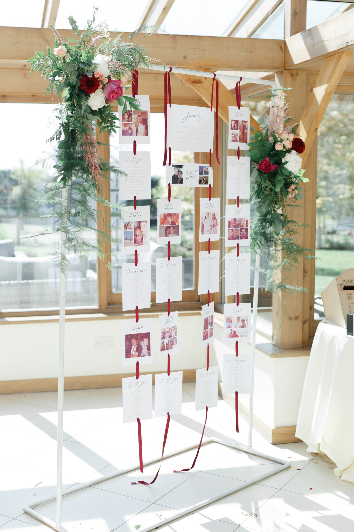 ryan thomas wedding hanging seating chart