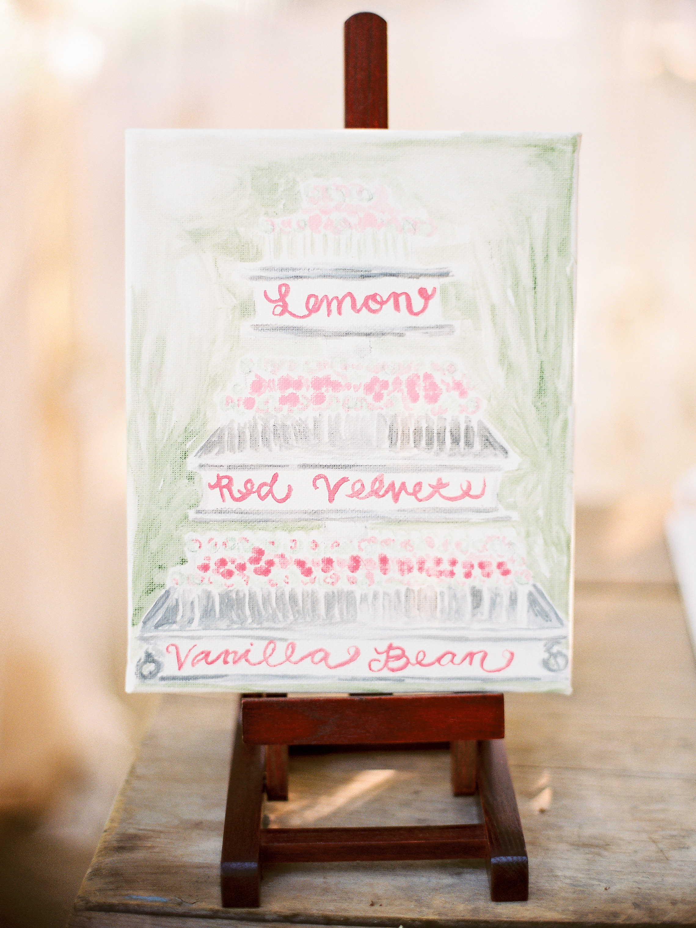 dessert menu ideas painted artistic rendition easel