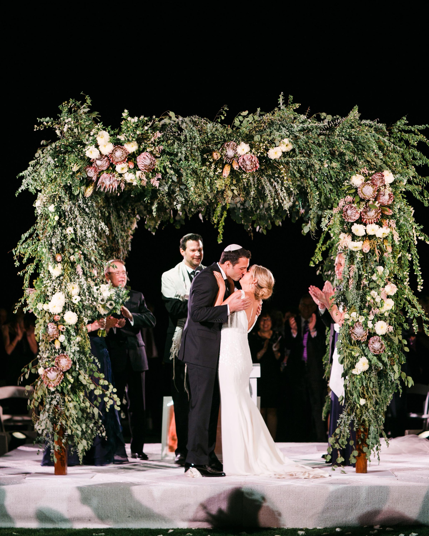 night wedding idea outdoor ceremony