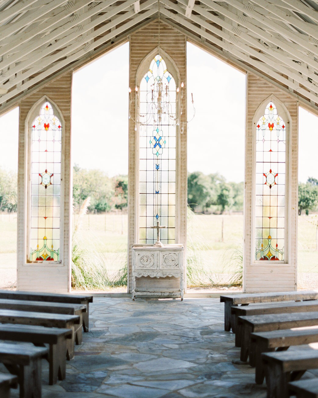 stained glass window wedding venue