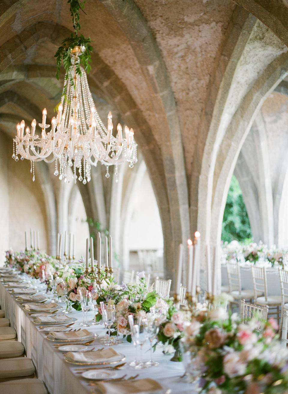 adrienne cameron wedding reception in crypt
