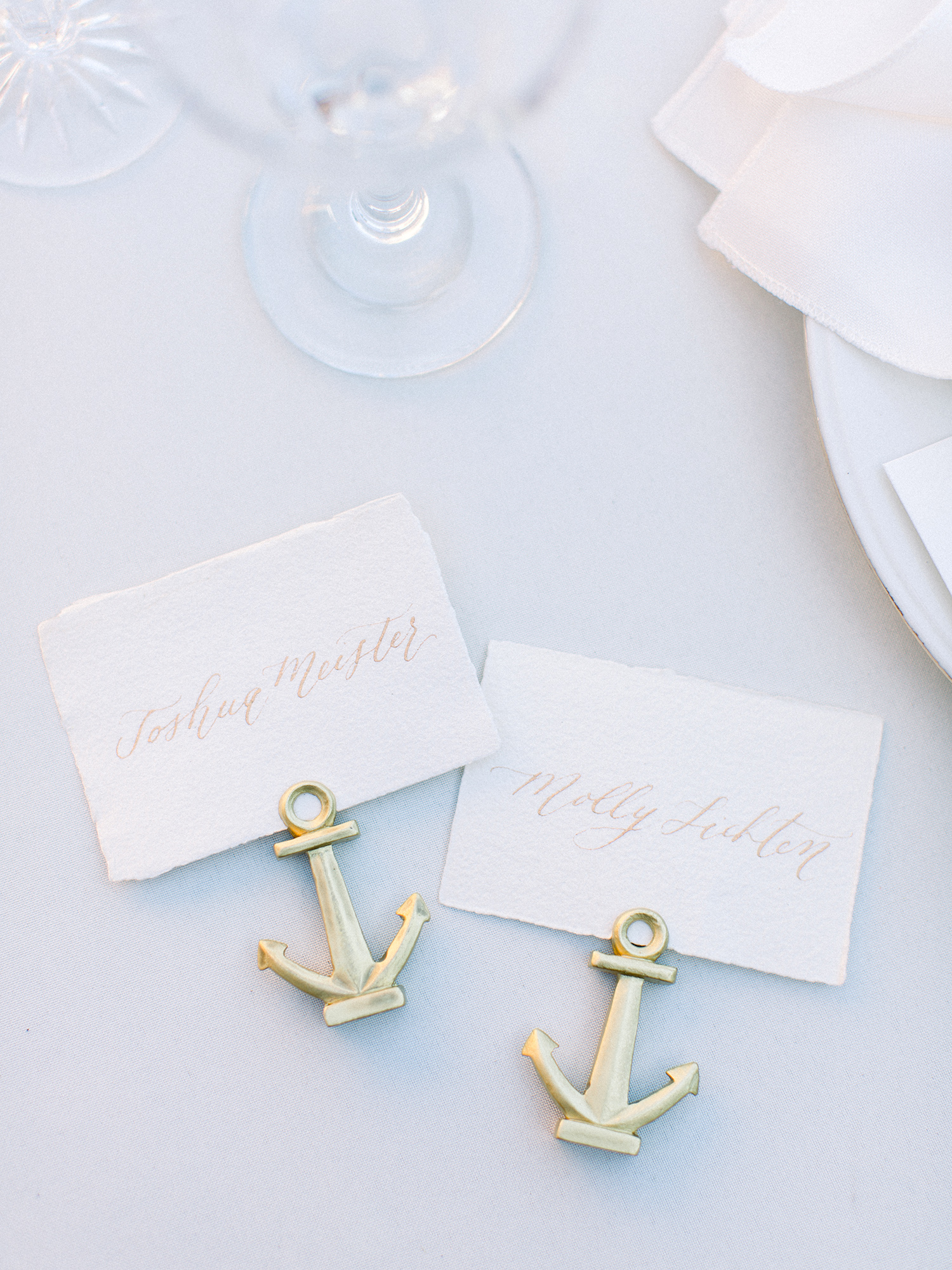 molly josh wedding place cards