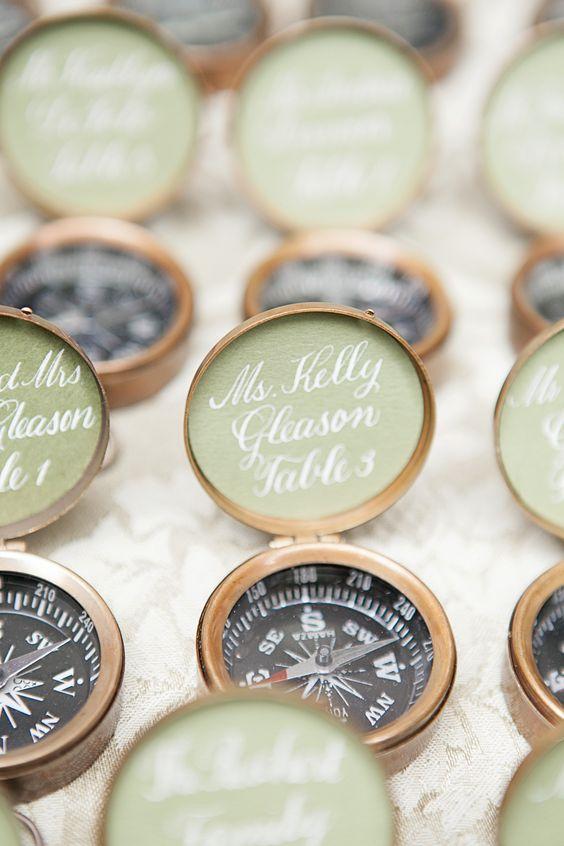 compass wedding ideas escort cards