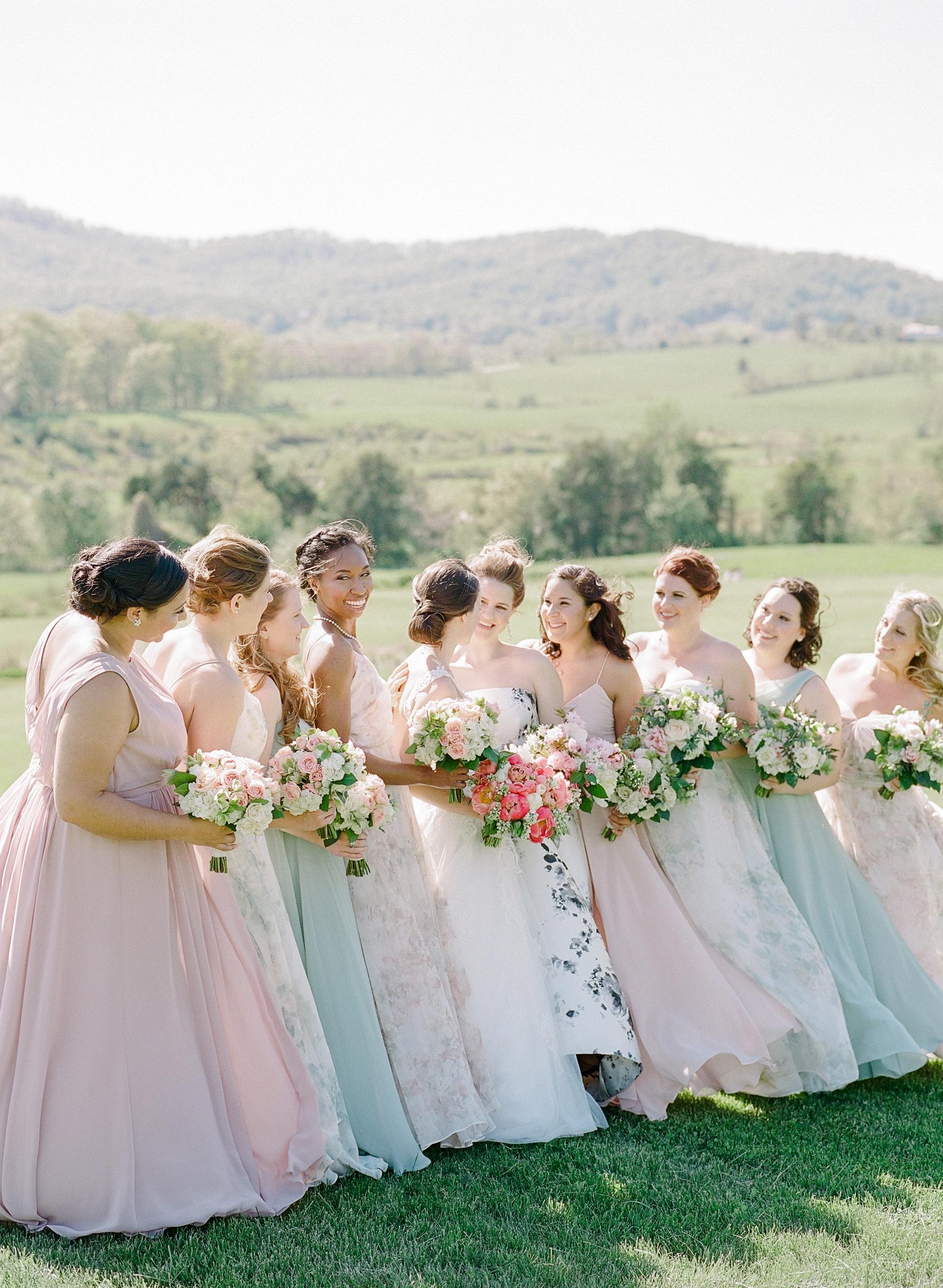 mechelle julia wedding bridesmaids and brides